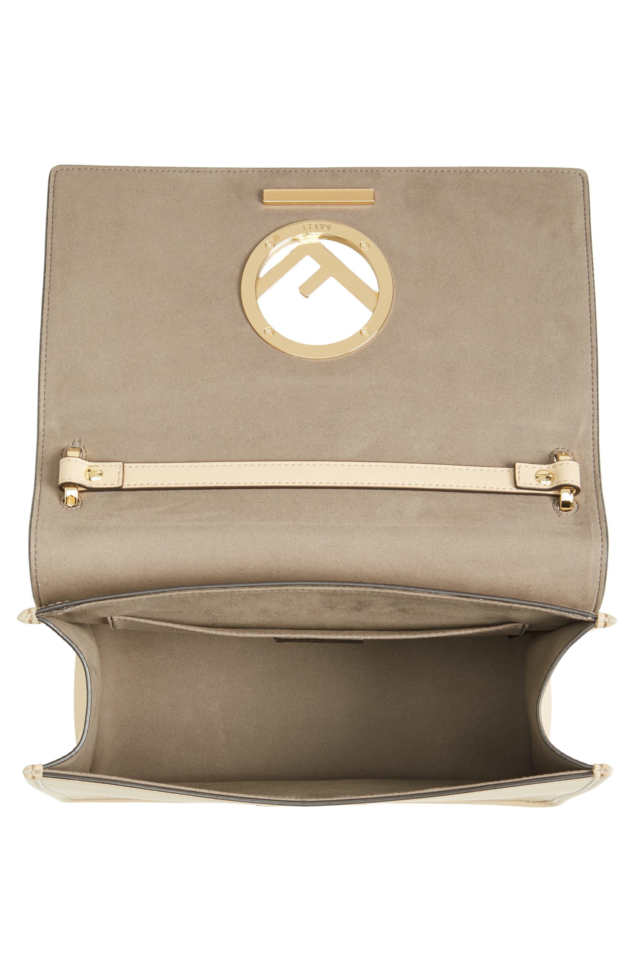 Kan I Calfskin Leather Shoulder Bag,                             Alternate thumbnail 4, color,                             Beige