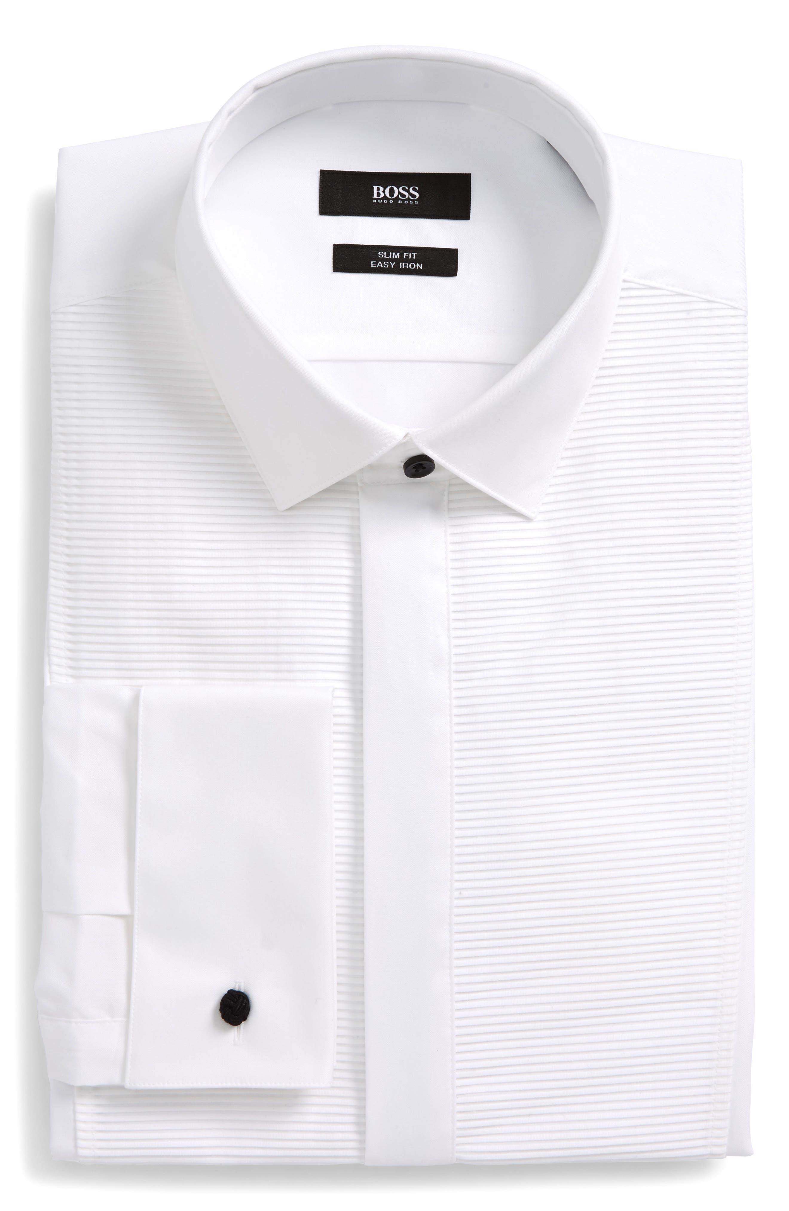 Slim Fit Formal Dress Shirt,                         Main,                         color, White