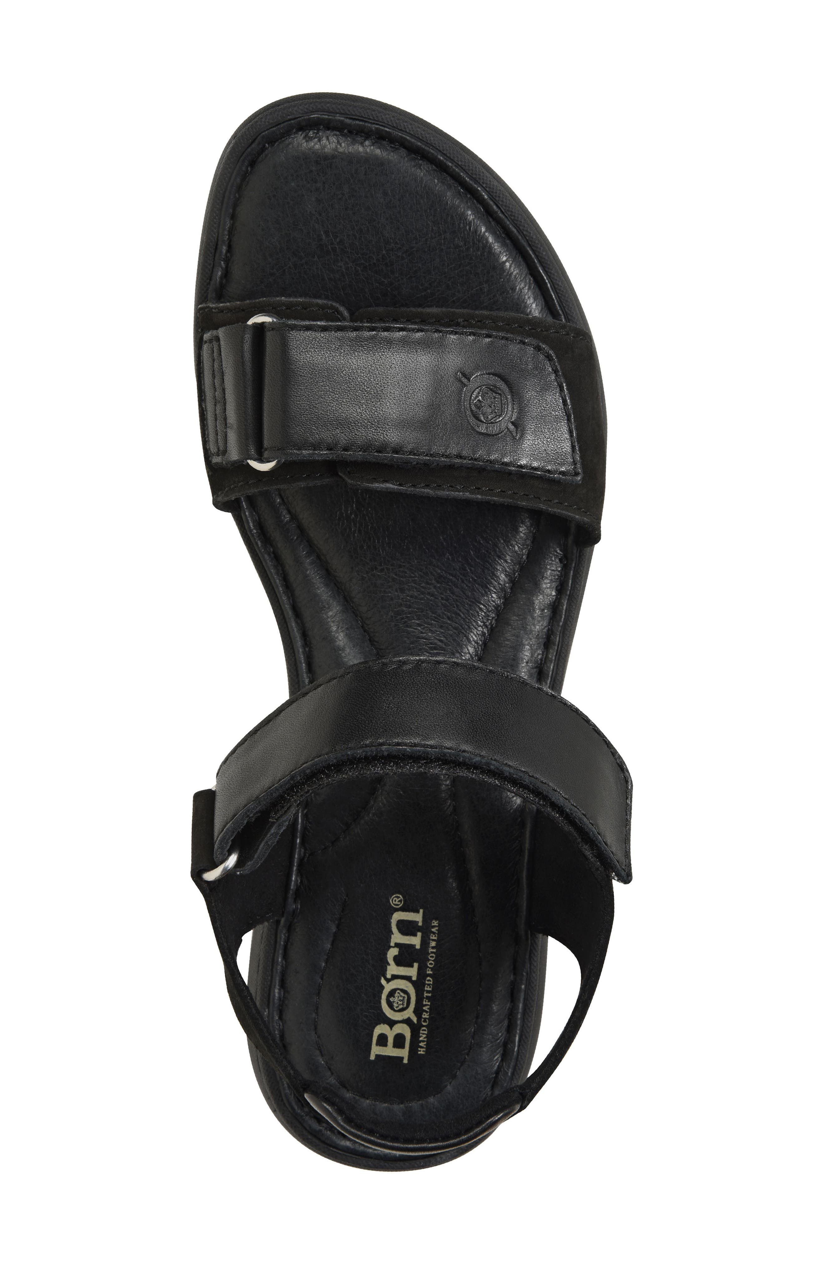 Nirvana Sandal,                             Alternate thumbnail 5, color,                             Black Leather