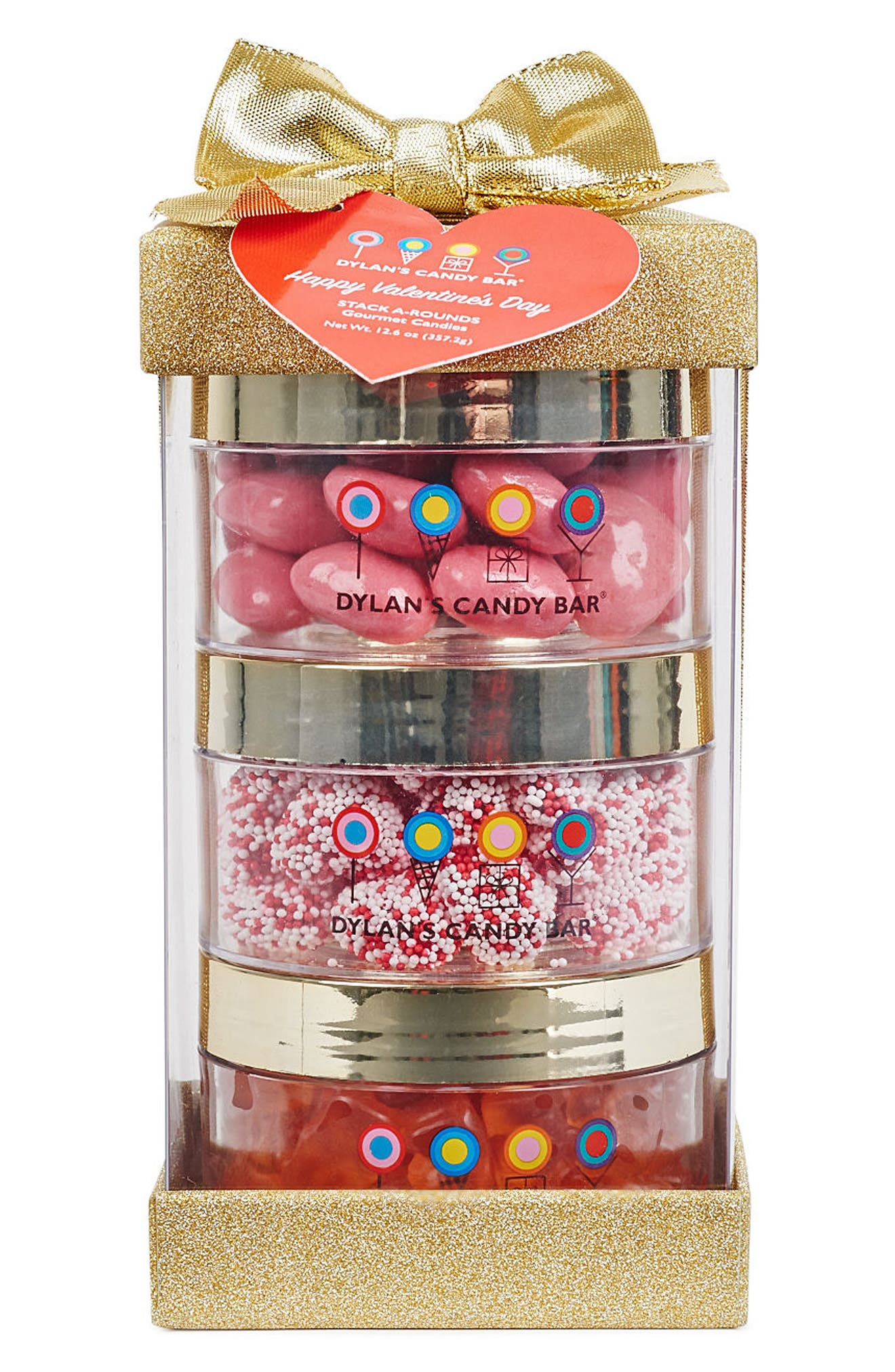 Stack-A-Round 3-Pack Valentine's Day Gift Set,                             Main thumbnail 1, color,                             Gold