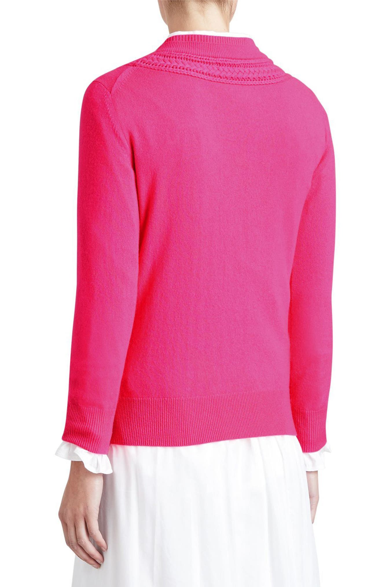 Guadaira Cashmere Sweater,                             Alternate thumbnail 3, color,                             Bright Rose Pink