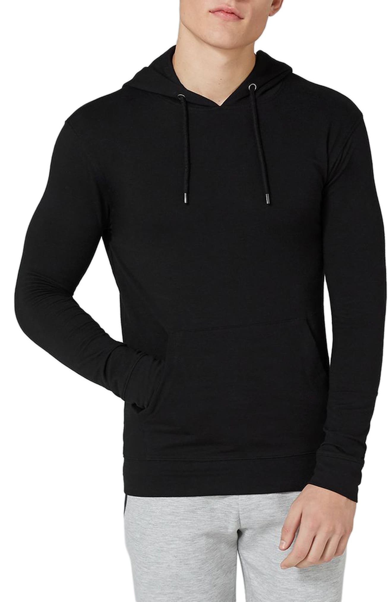 Ultra Muscle Fit Hoodie,                             Main thumbnail 1, color,                             Black