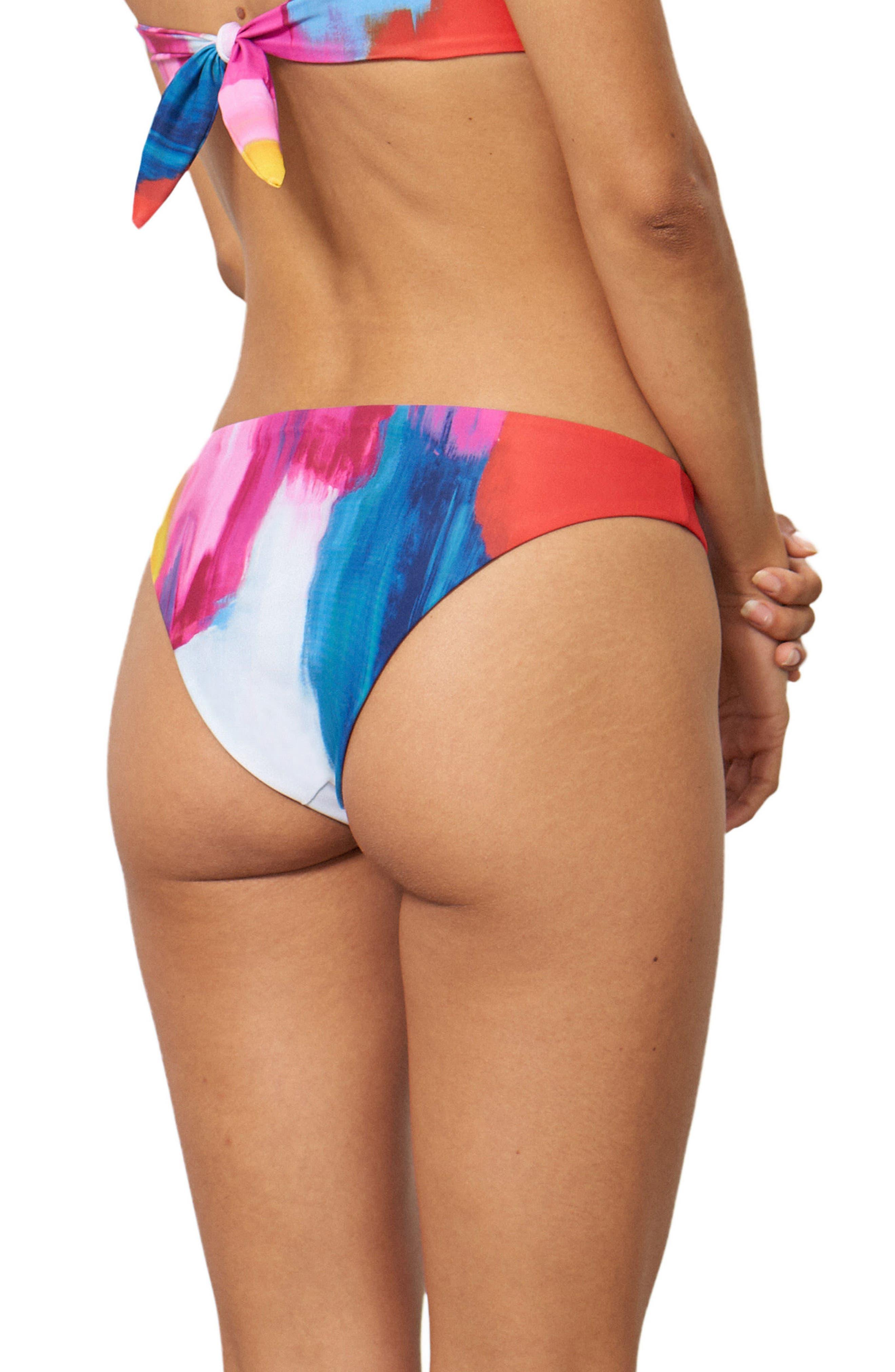 Kay Low Rise Bikini Bottoms,                             Alternate thumbnail 2, color,                             Pink Multi