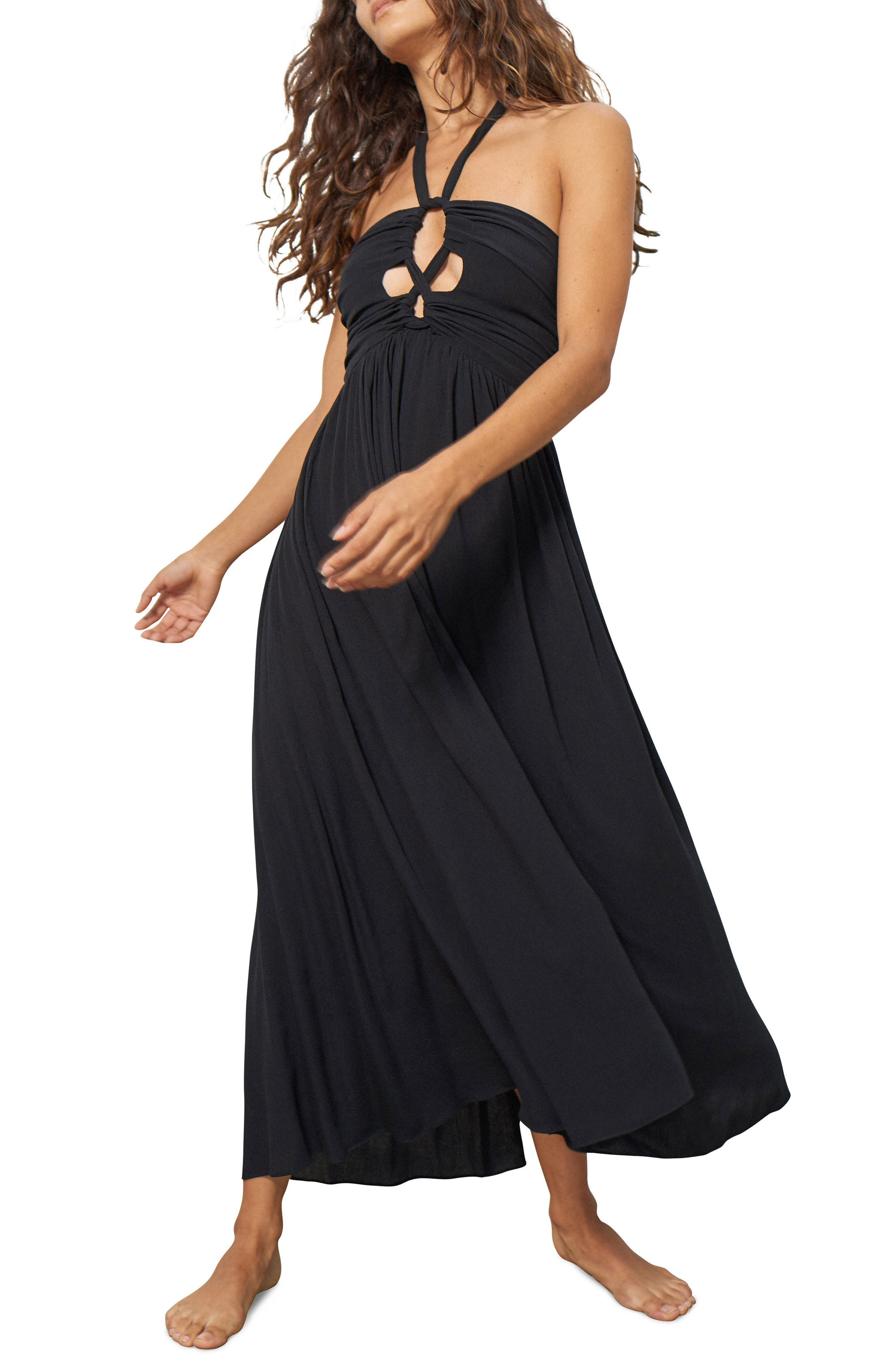 Annika Cover-Up Dress,                         Main,                         color, Black