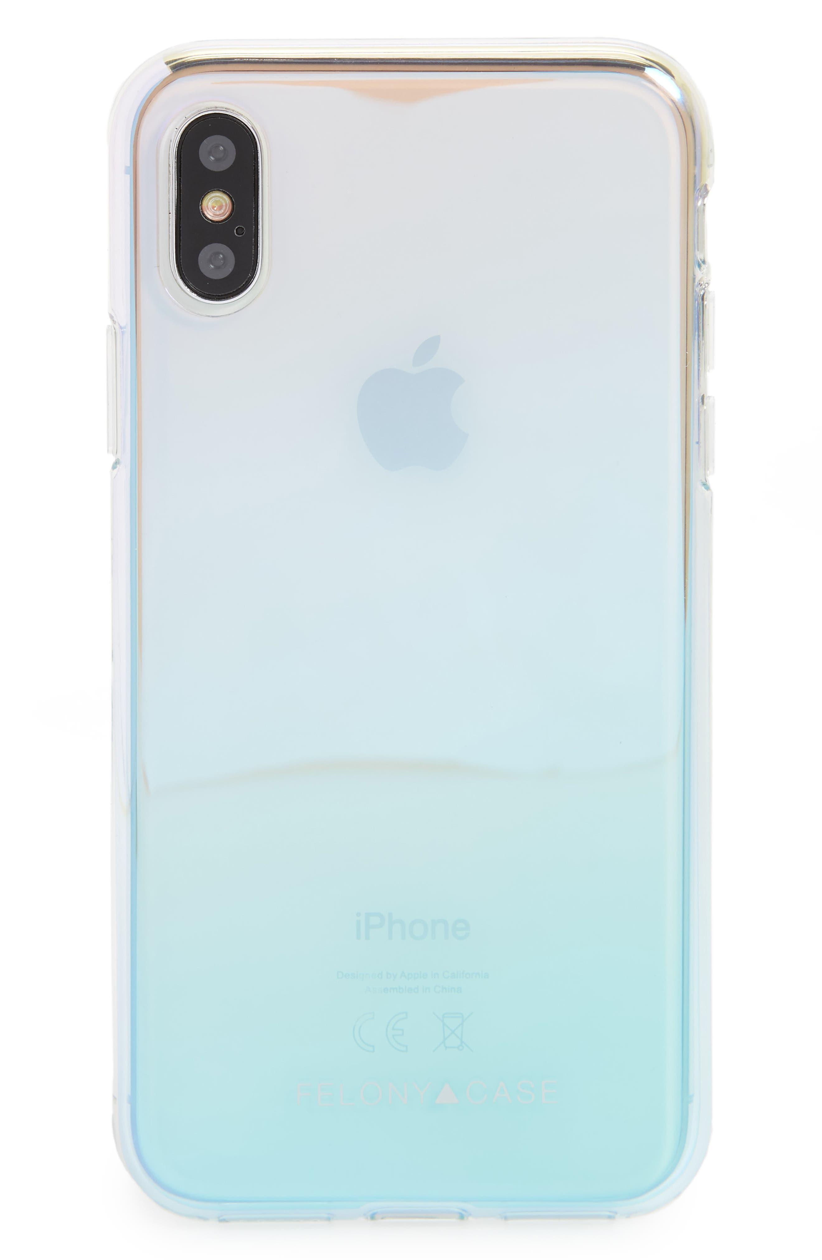 Main Image - Felony Case Holographic iPhone X Case