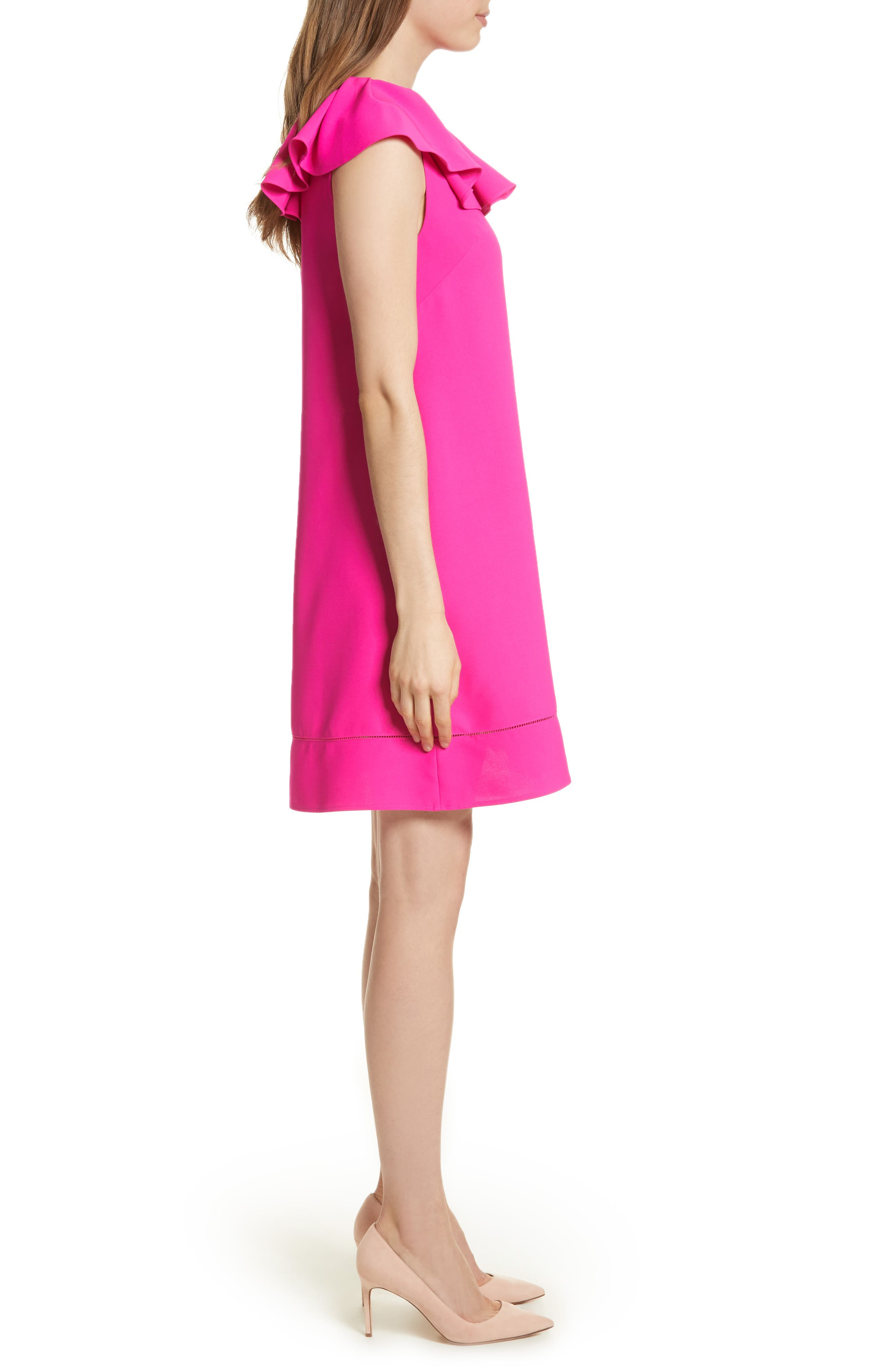 Alternate Image 3  - Ted Baker London Ruffled Neck Shift Dress