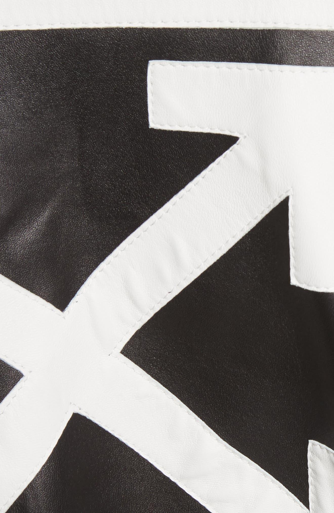 Crop Varsity Jacket,                             Alternate thumbnail 6, color,                             Multicolor White