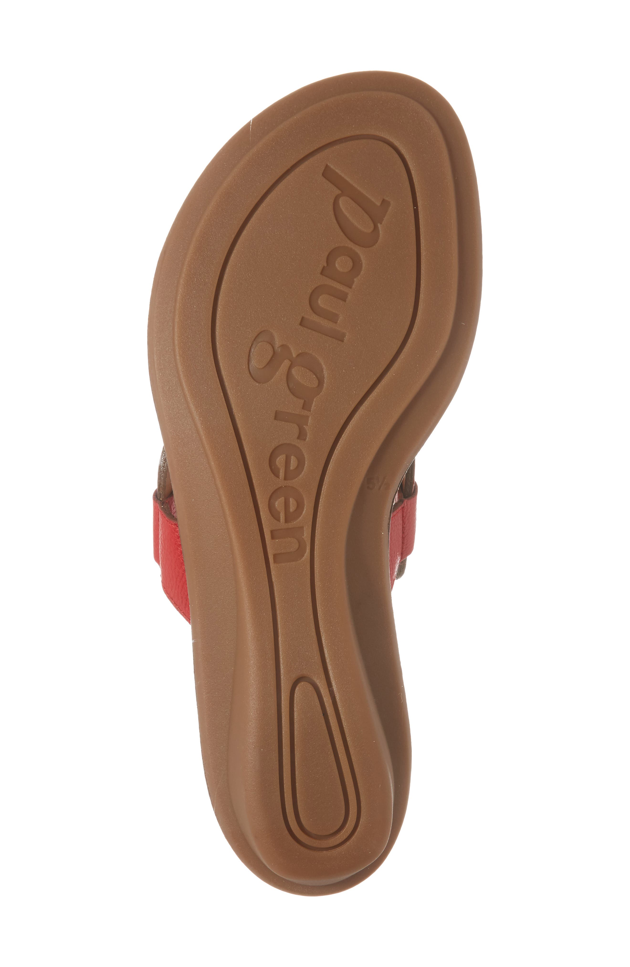 Lanai Flip-Flop,                             Alternate thumbnail 6, color,                             Red Leather