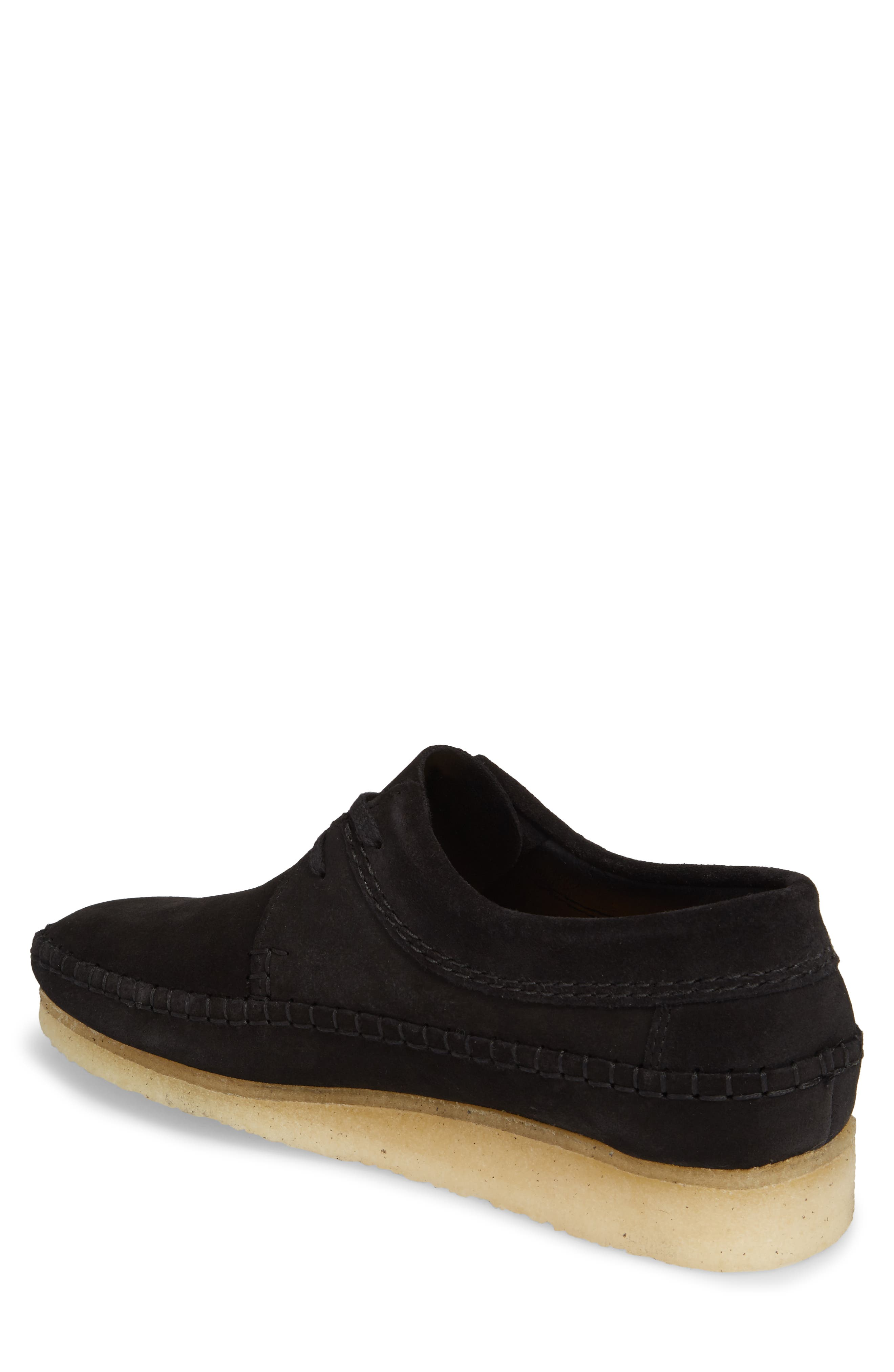 Weaver Moc Toe Derby,                             Alternate thumbnail 2, color,                             Black Suede