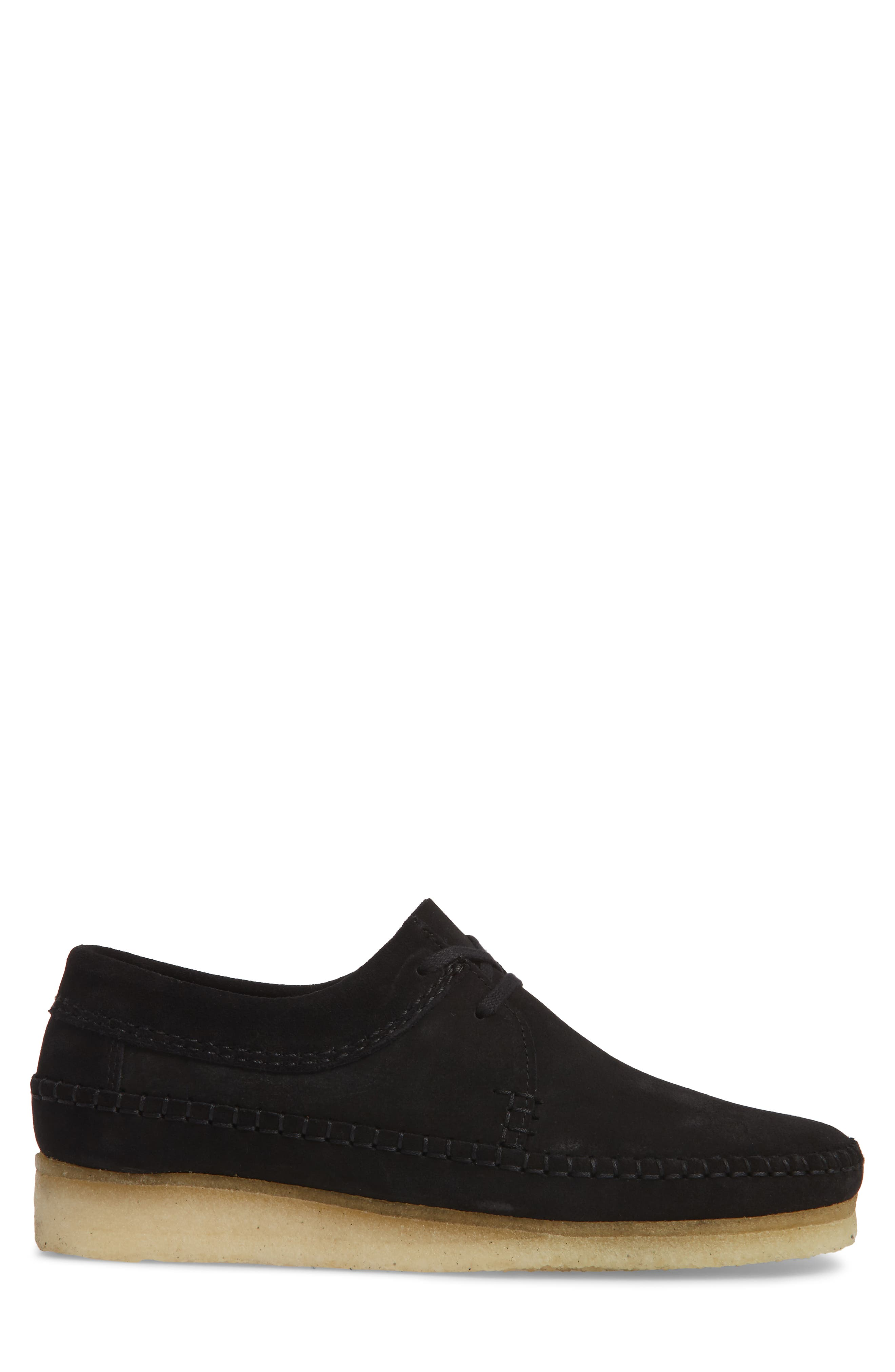Weaver Moc Toe Derby,                             Alternate thumbnail 3, color,                             Black Suede