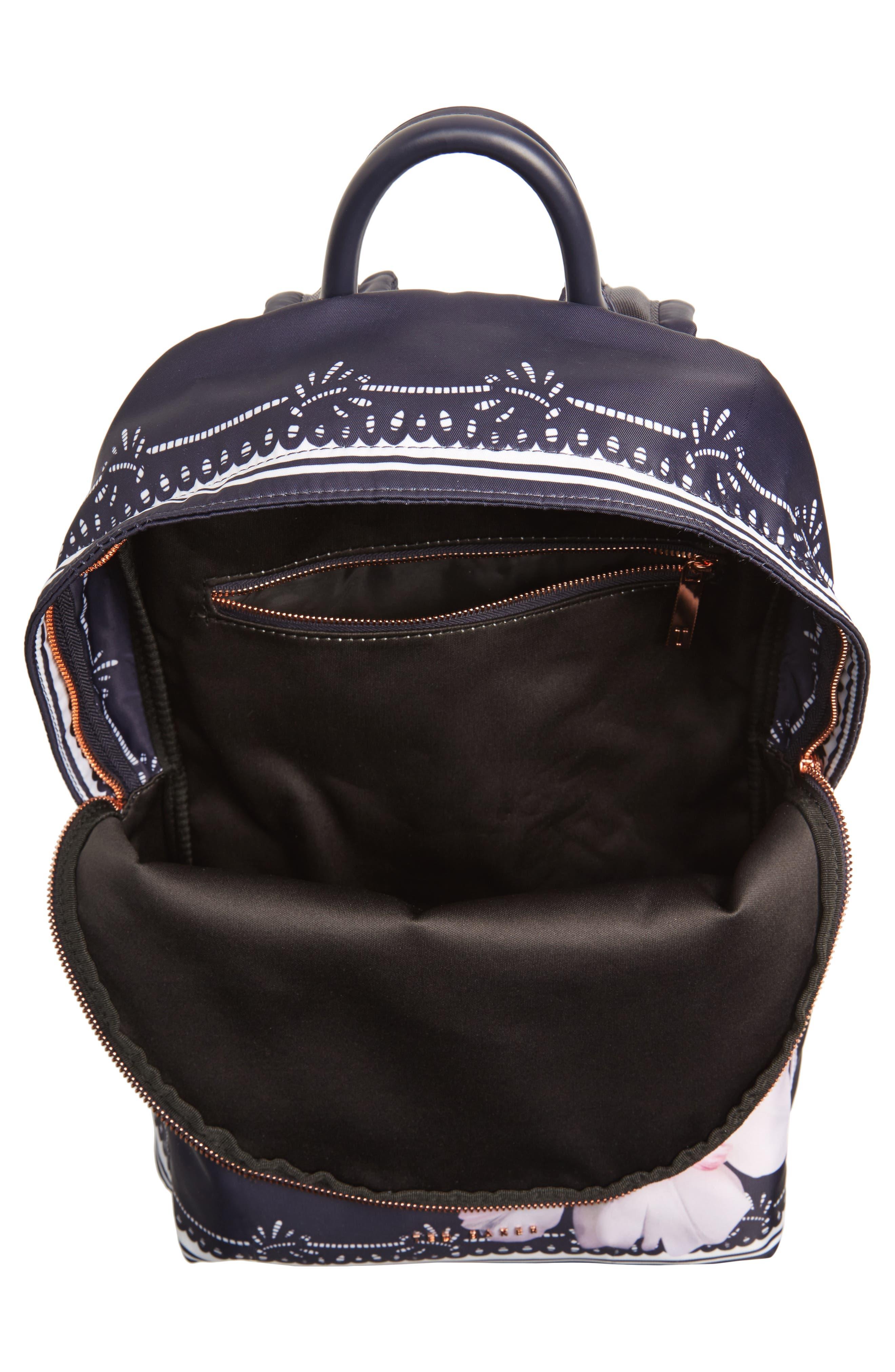 Kayleey Gardenia Backpack,                             Alternate thumbnail 4, color,                             Dark Blue