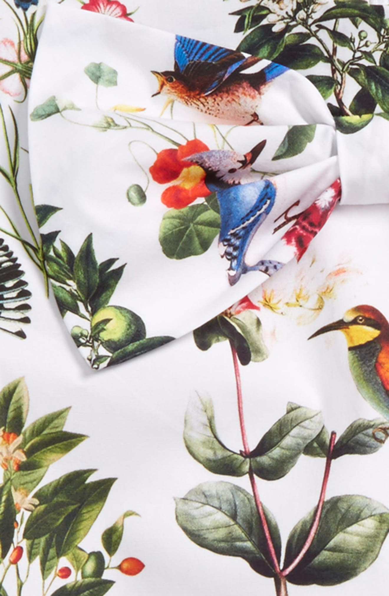 Mikado Botanical Birds Top,                             Alternate thumbnail 2, color,                             White Multi