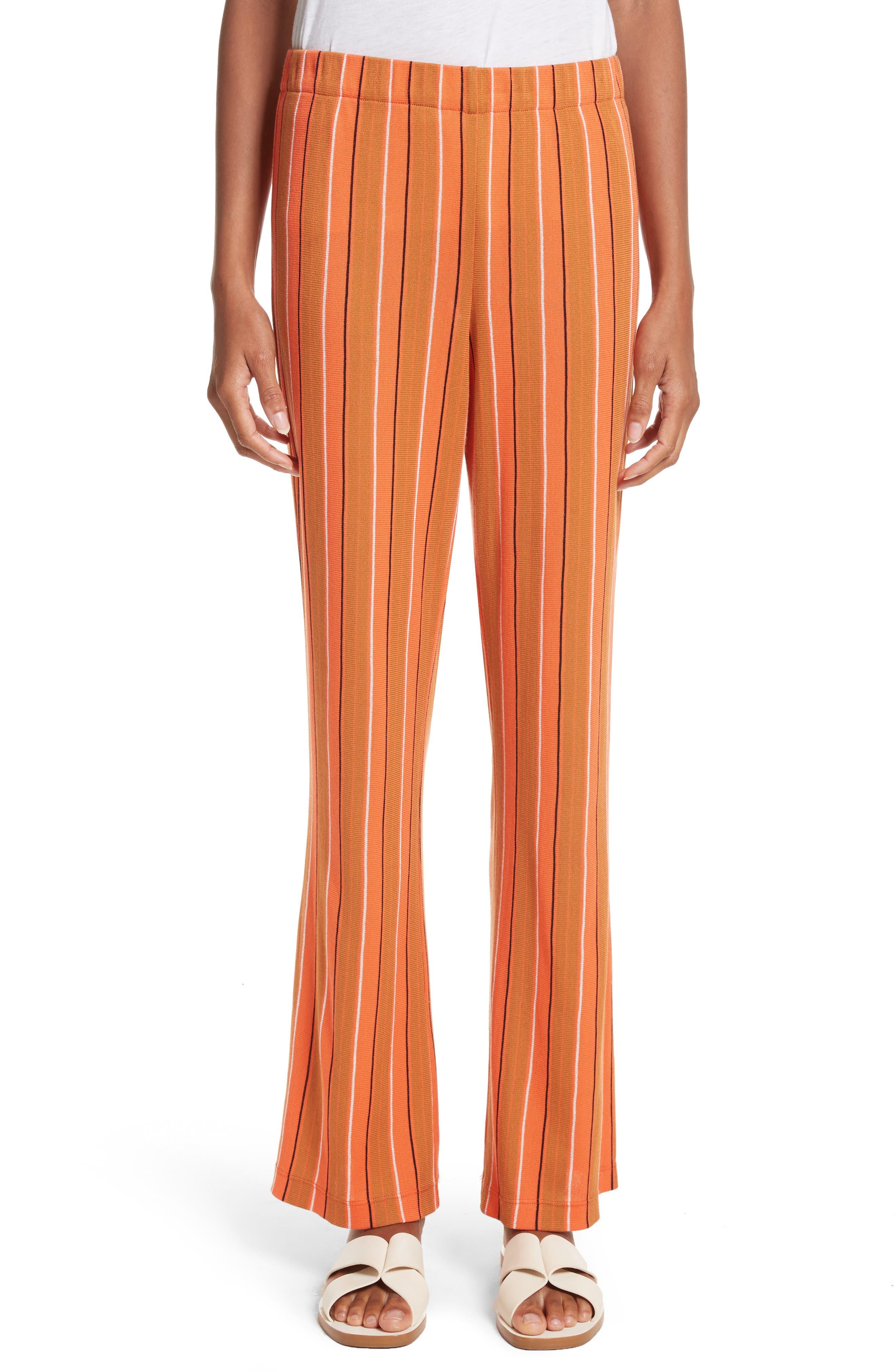 Cyrene Stripe Knit Pants,                         Main,                         color, Mango