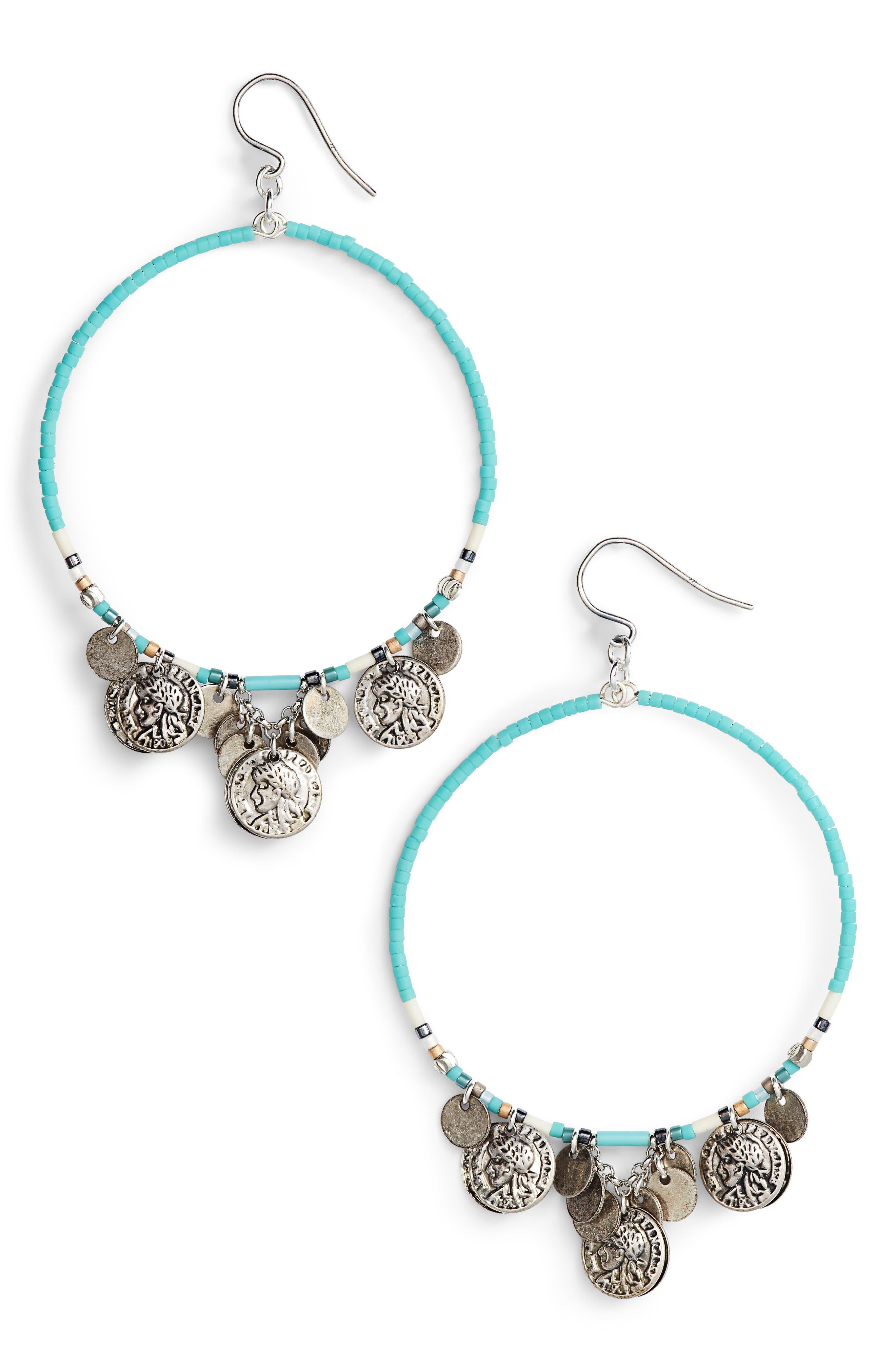 Alternate Image 1 Selected - Chan Luu Coin Hoop Earrings
