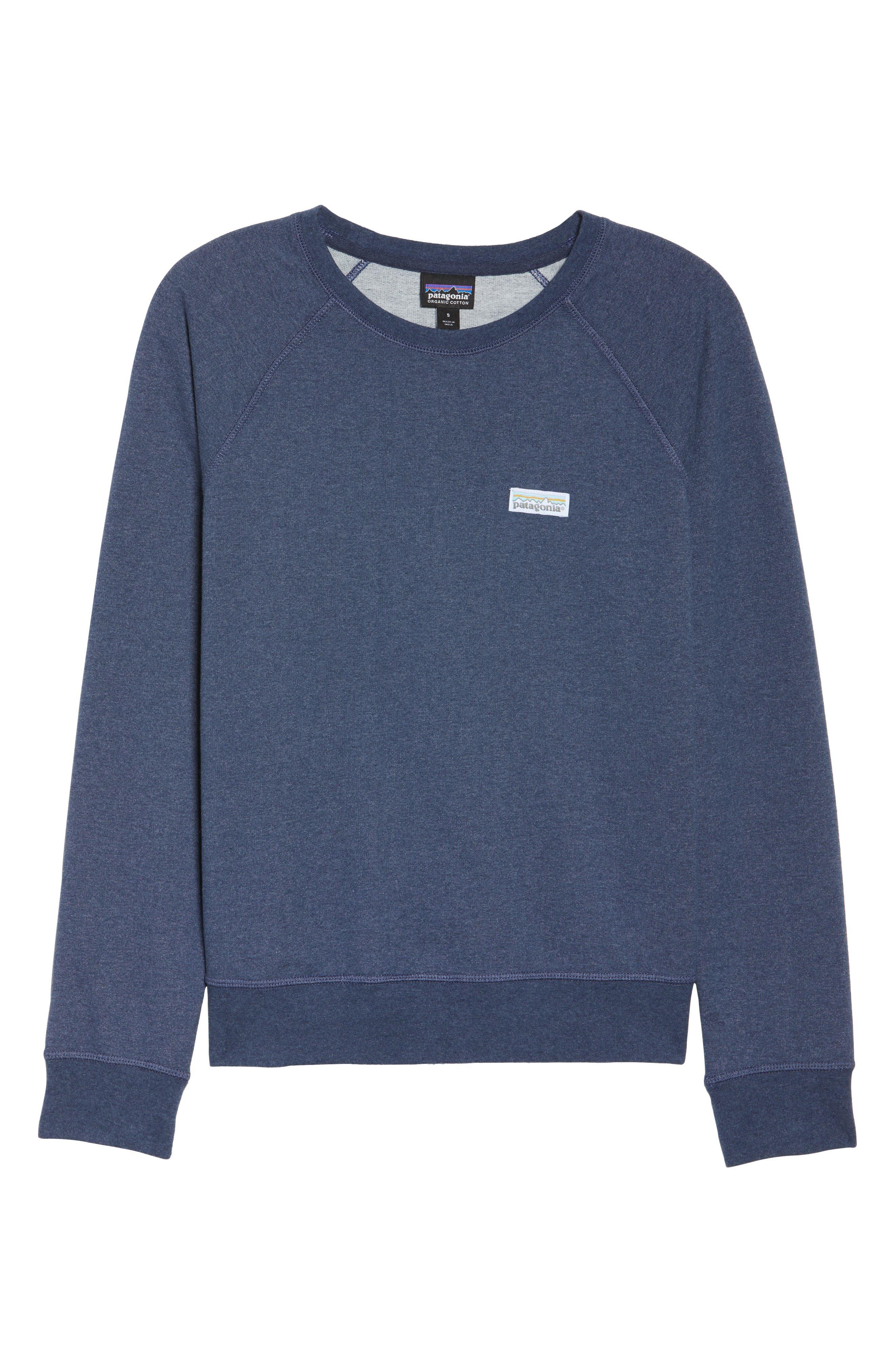 Pastel P-6 Label Midweight Sweatshirt,                             Alternate thumbnail 7, color,                             Classic Navy