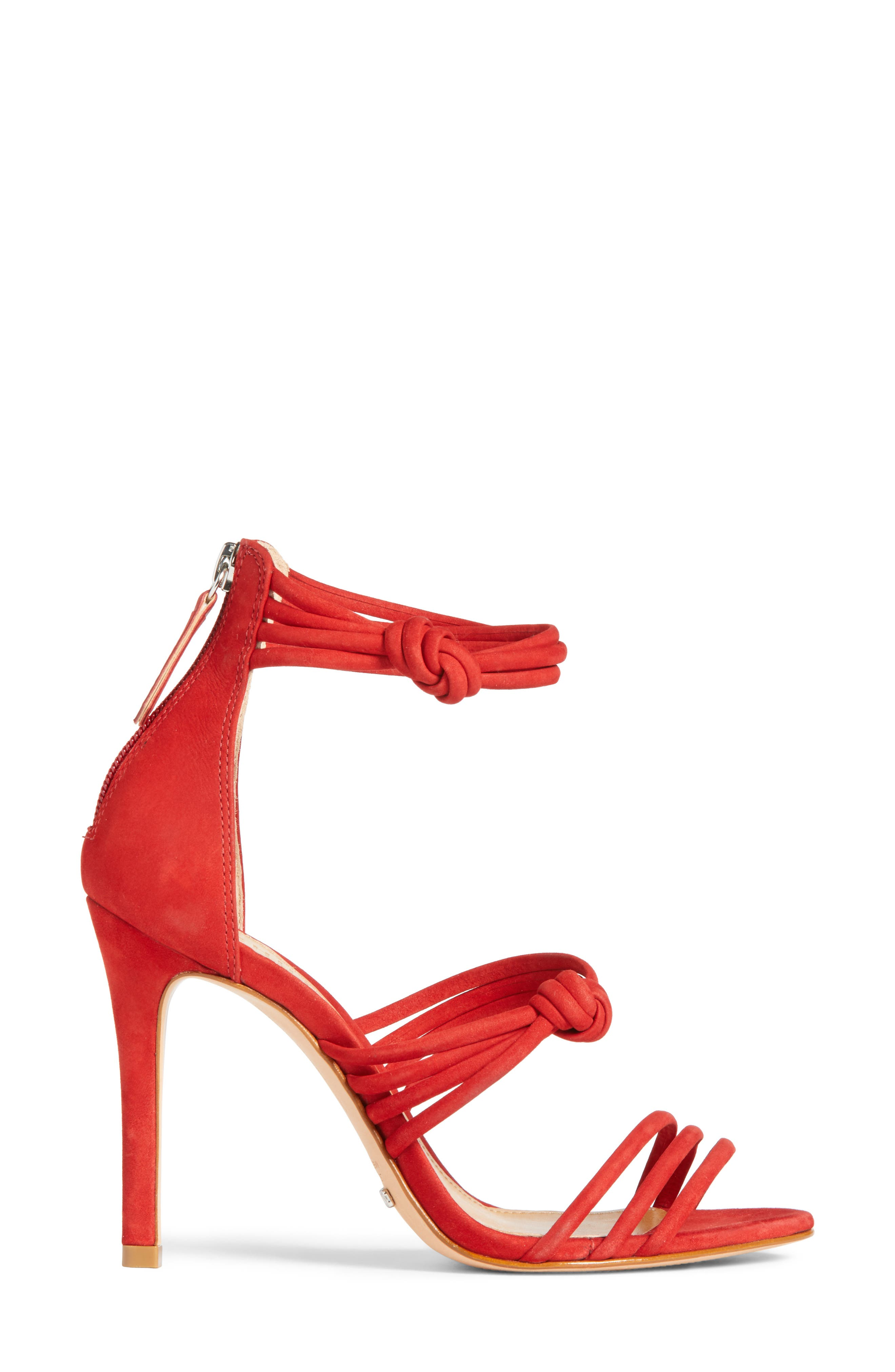 Suely Sandal,                             Alternate thumbnail 3, color,                             Tango Red