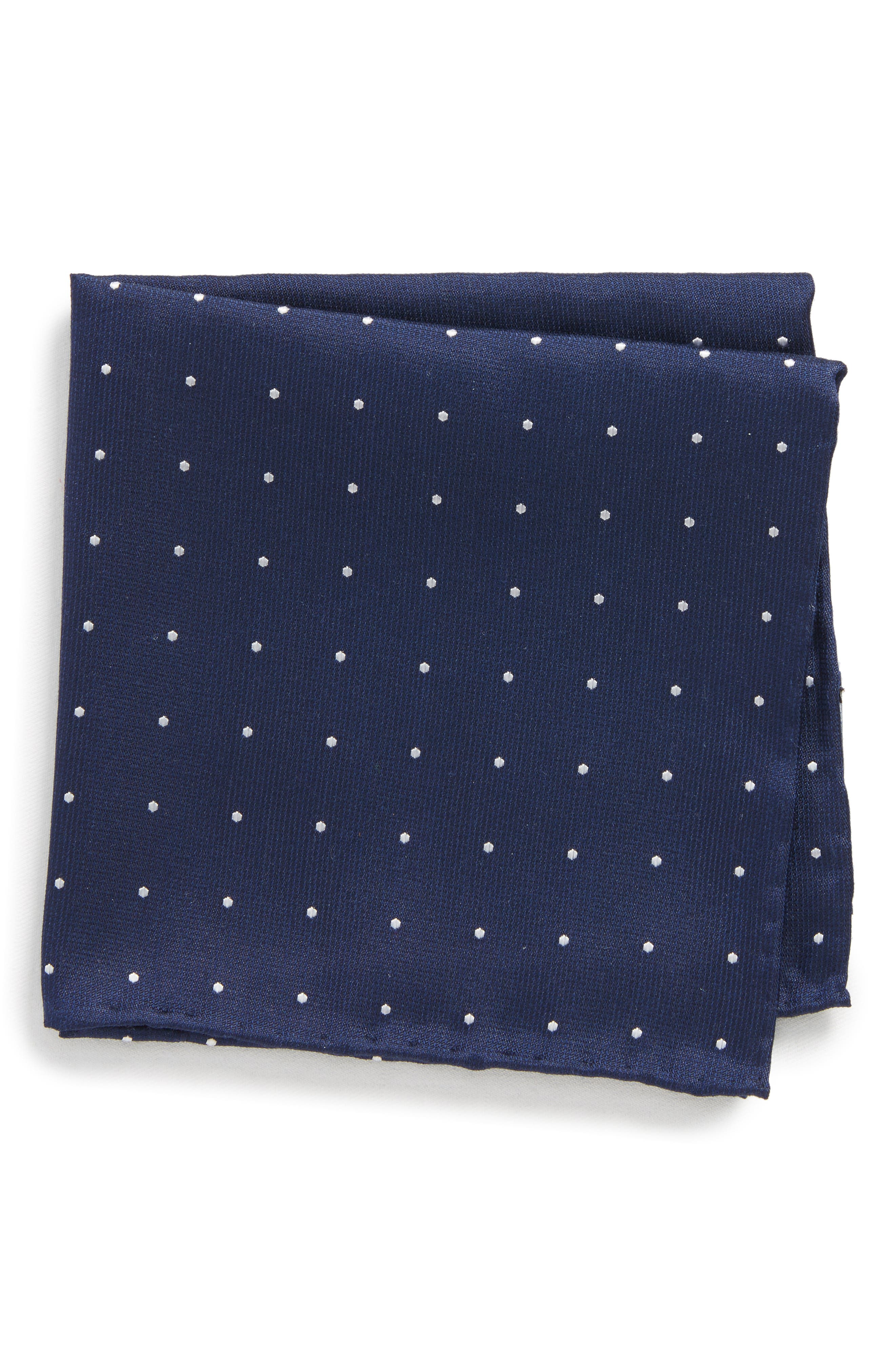 The Tie Bar Dot Silk Pocket Square