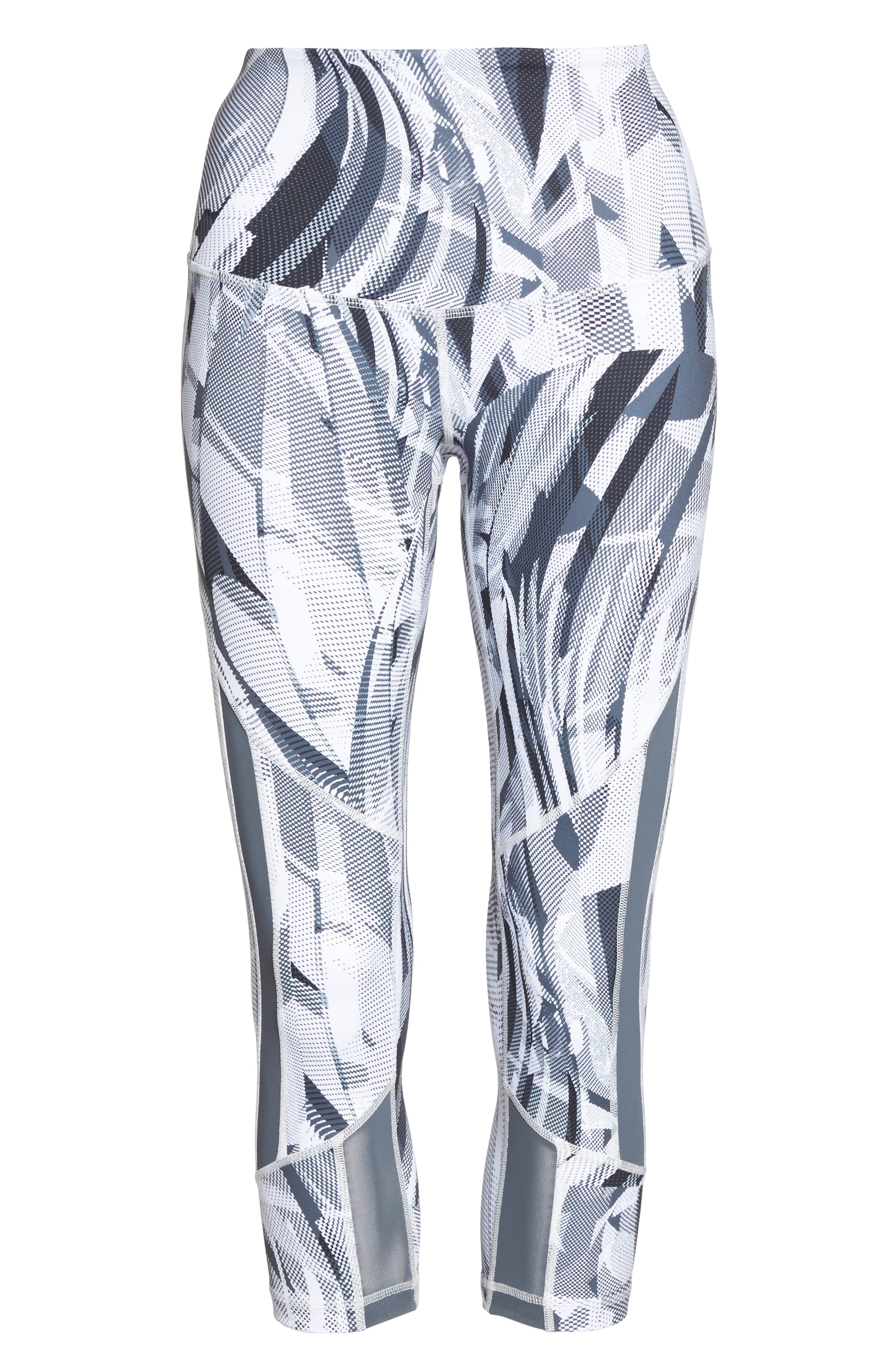 Sheer to There High Waist Crop Leggings,                             Alternate thumbnail 7, color,                             White Atmospheric Camo Print