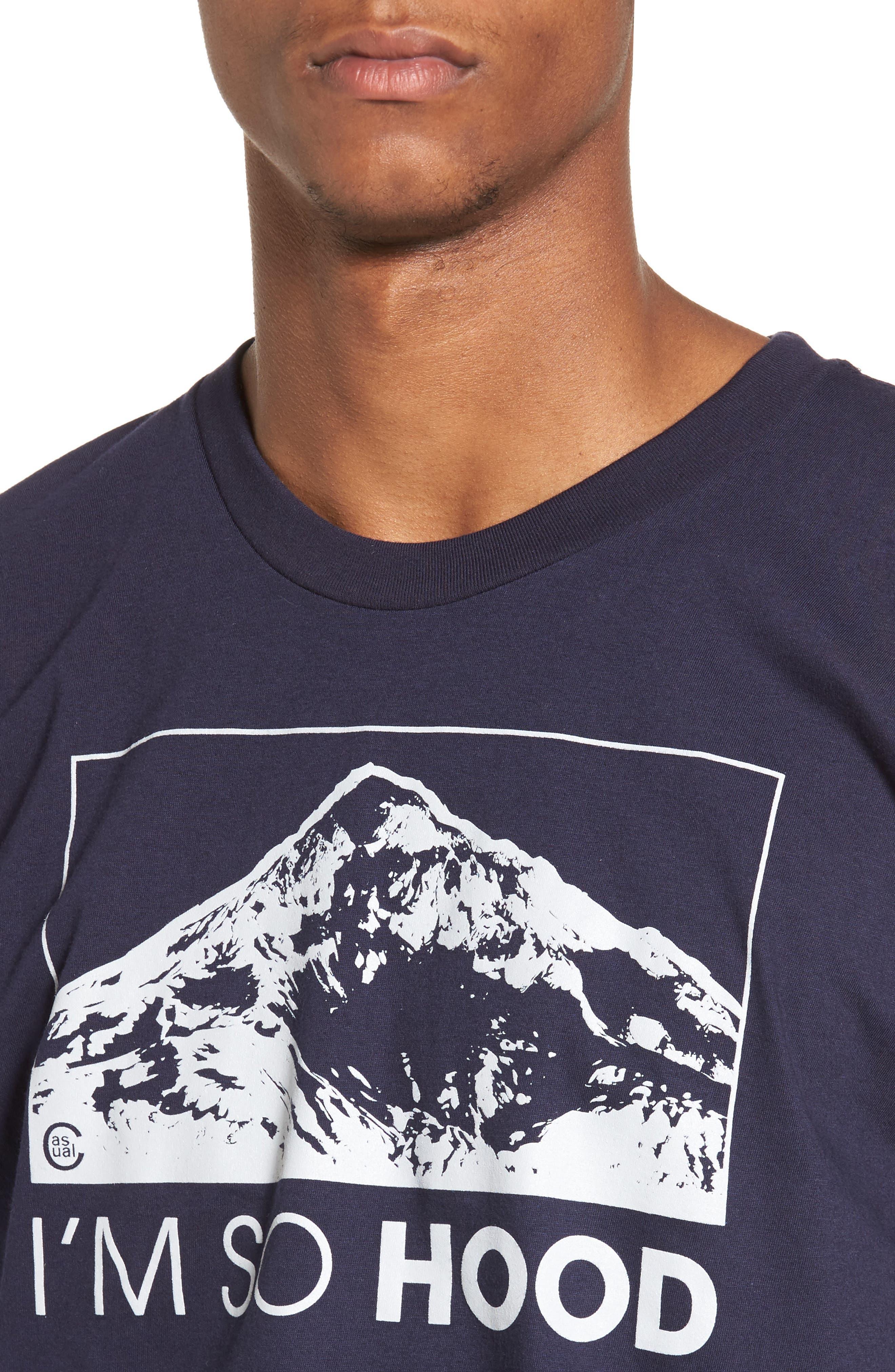 I'm So Hood T-Shirt,                             Alternate thumbnail 4, color,                             Navy Blue