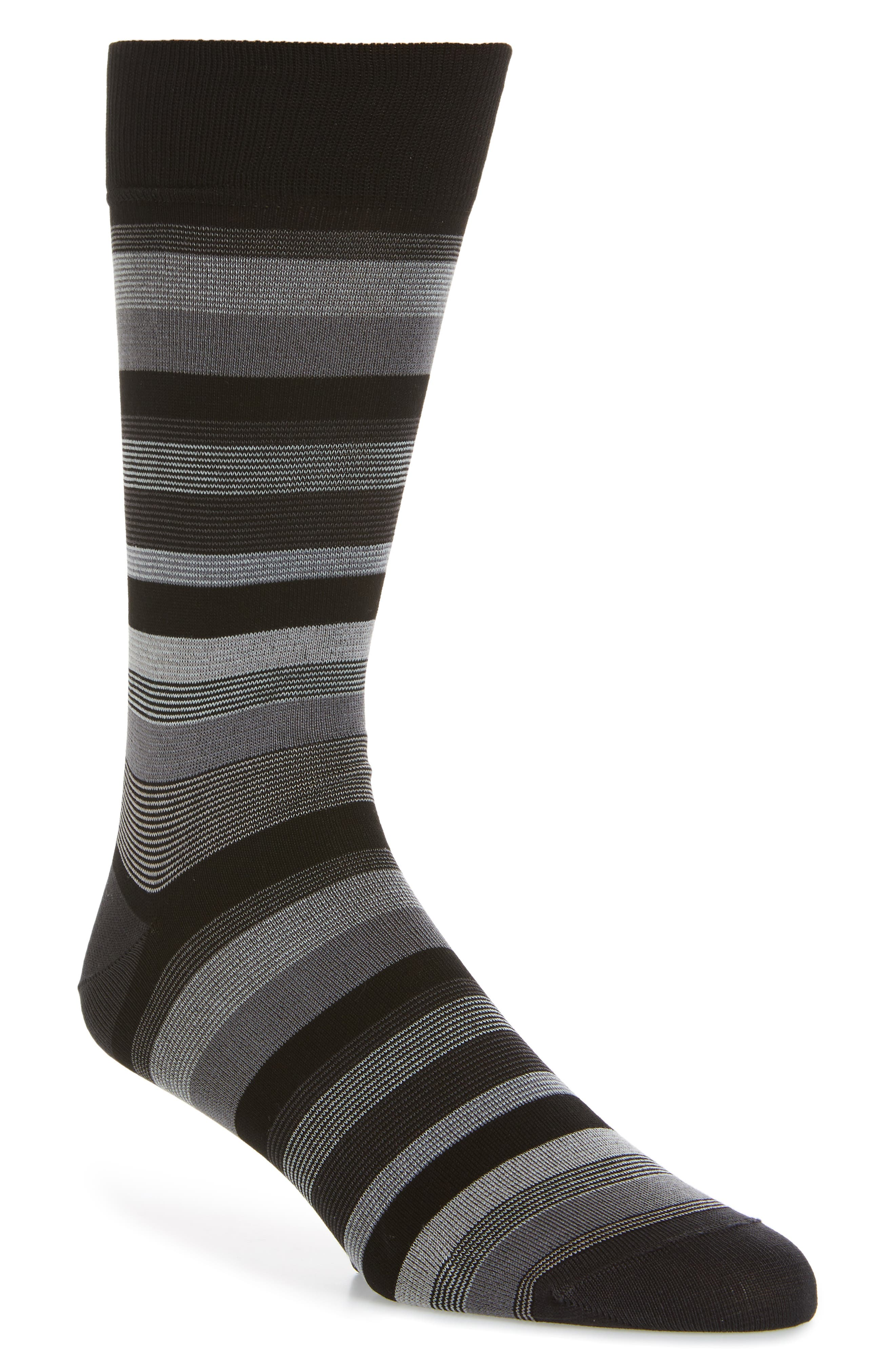Alternate Image 1 Selected - Bugatchi Stripe Crew Socks