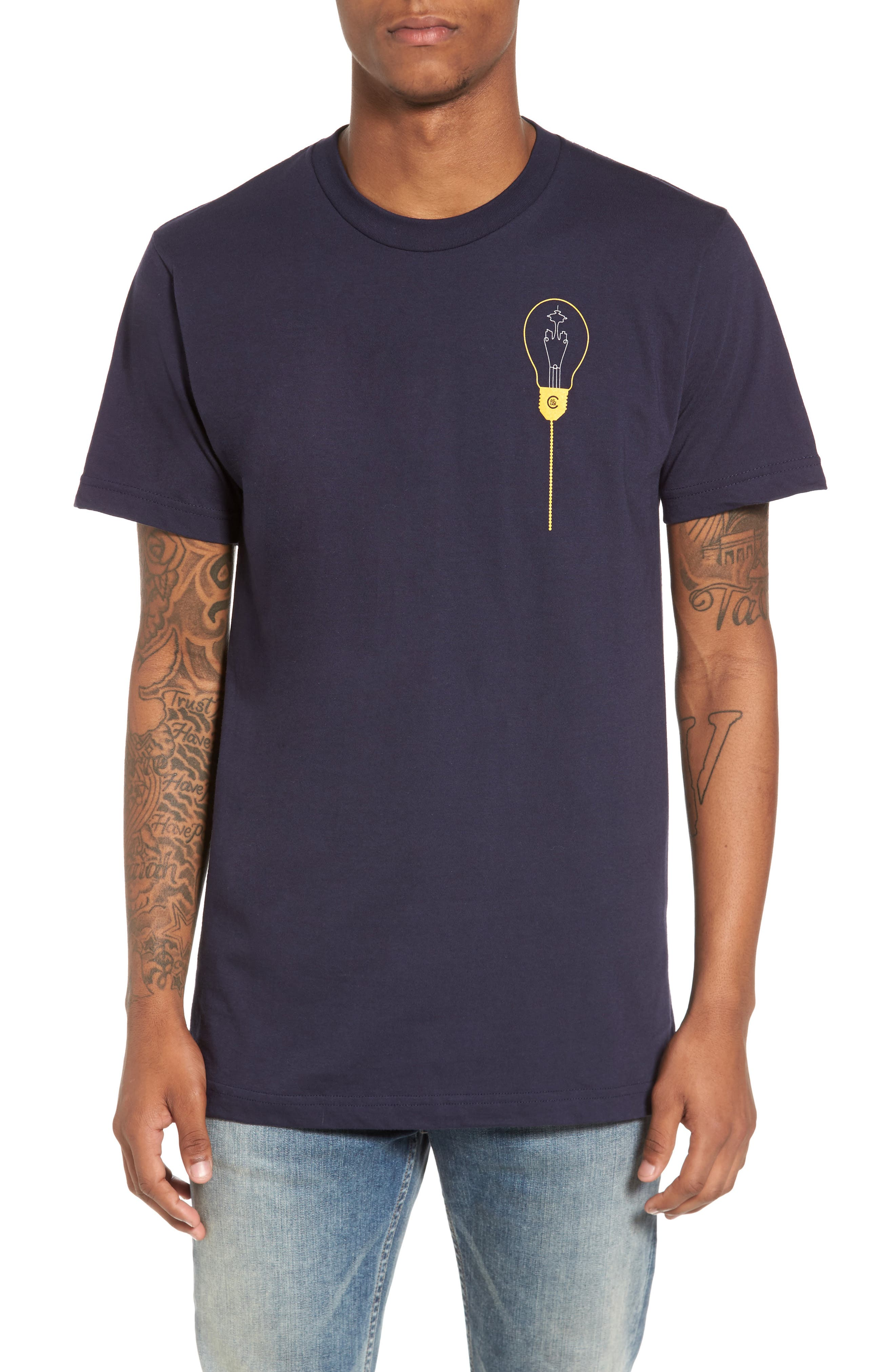 Keeping Seatown Lit T-Shirt,                         Main,                         color, Navy