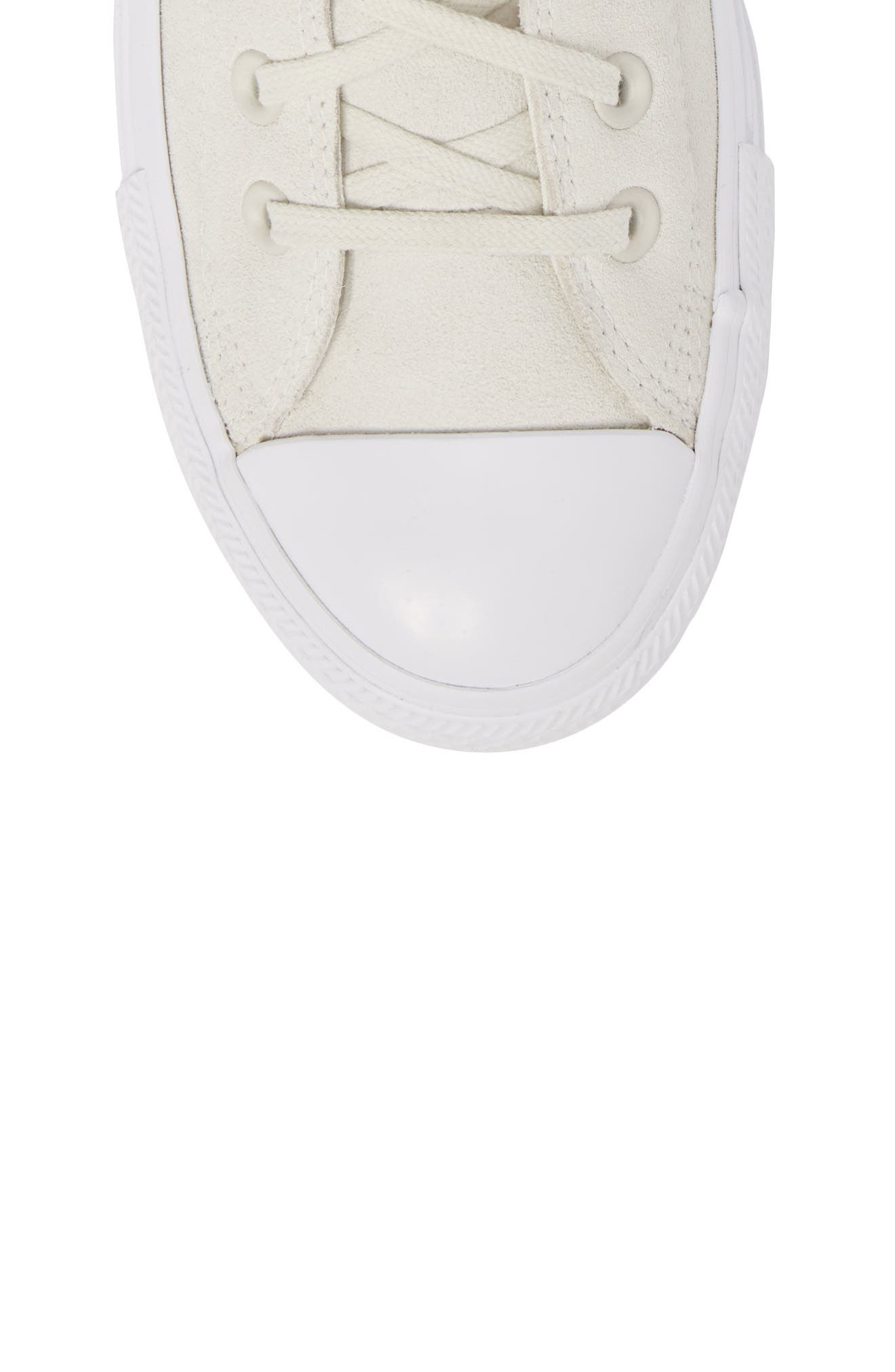 Chuck Taylor<sup>®</sup> All Star<sup>®</sup> Plush Hi Sneaker,                             Alternate thumbnail 5, color,                             Buff Suede