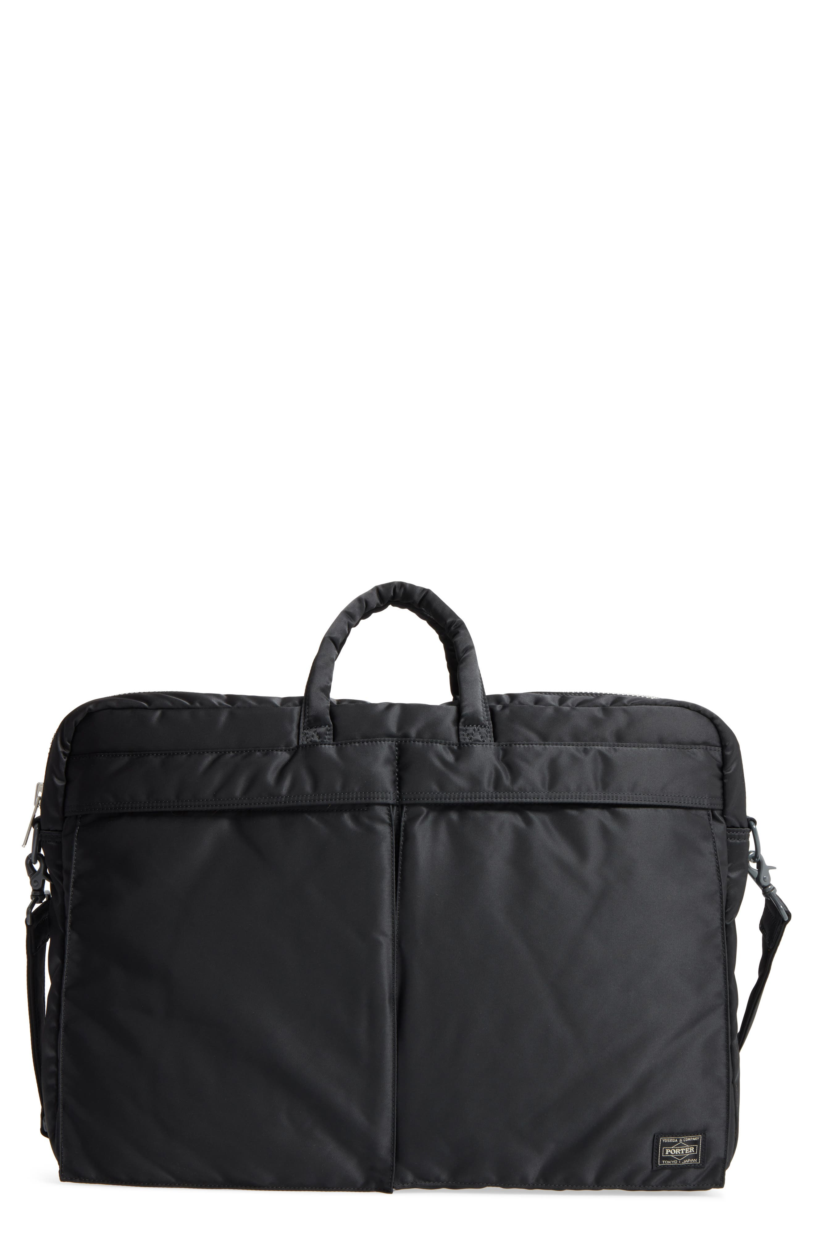 Porter-Yoshida & Co. Tanker Two-Way Briefcase,                             Main thumbnail 1, color,                             Black
