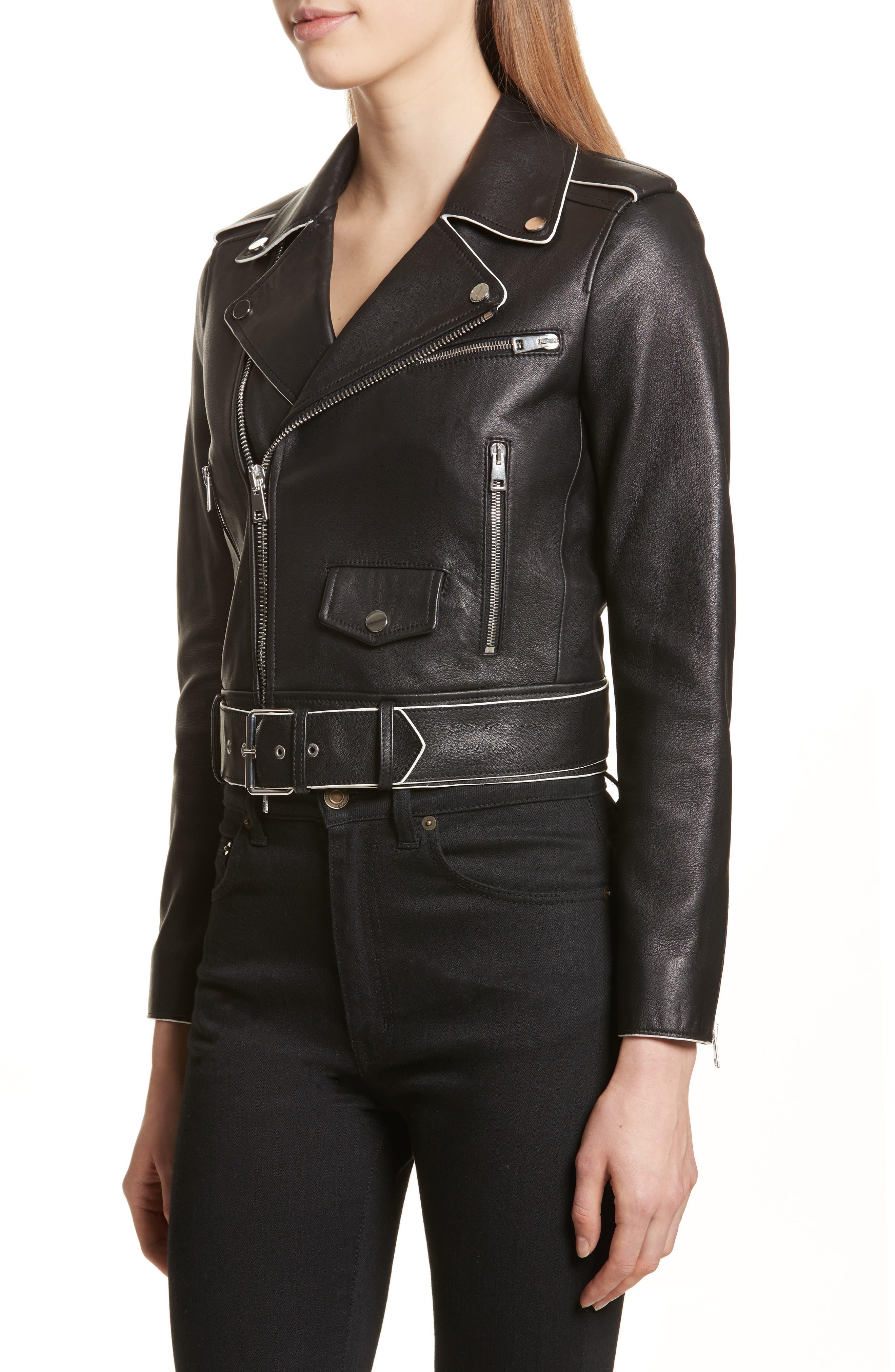 Alternate Image 4  - Theory Painted Edge Shrunken Leather Moto Jacket