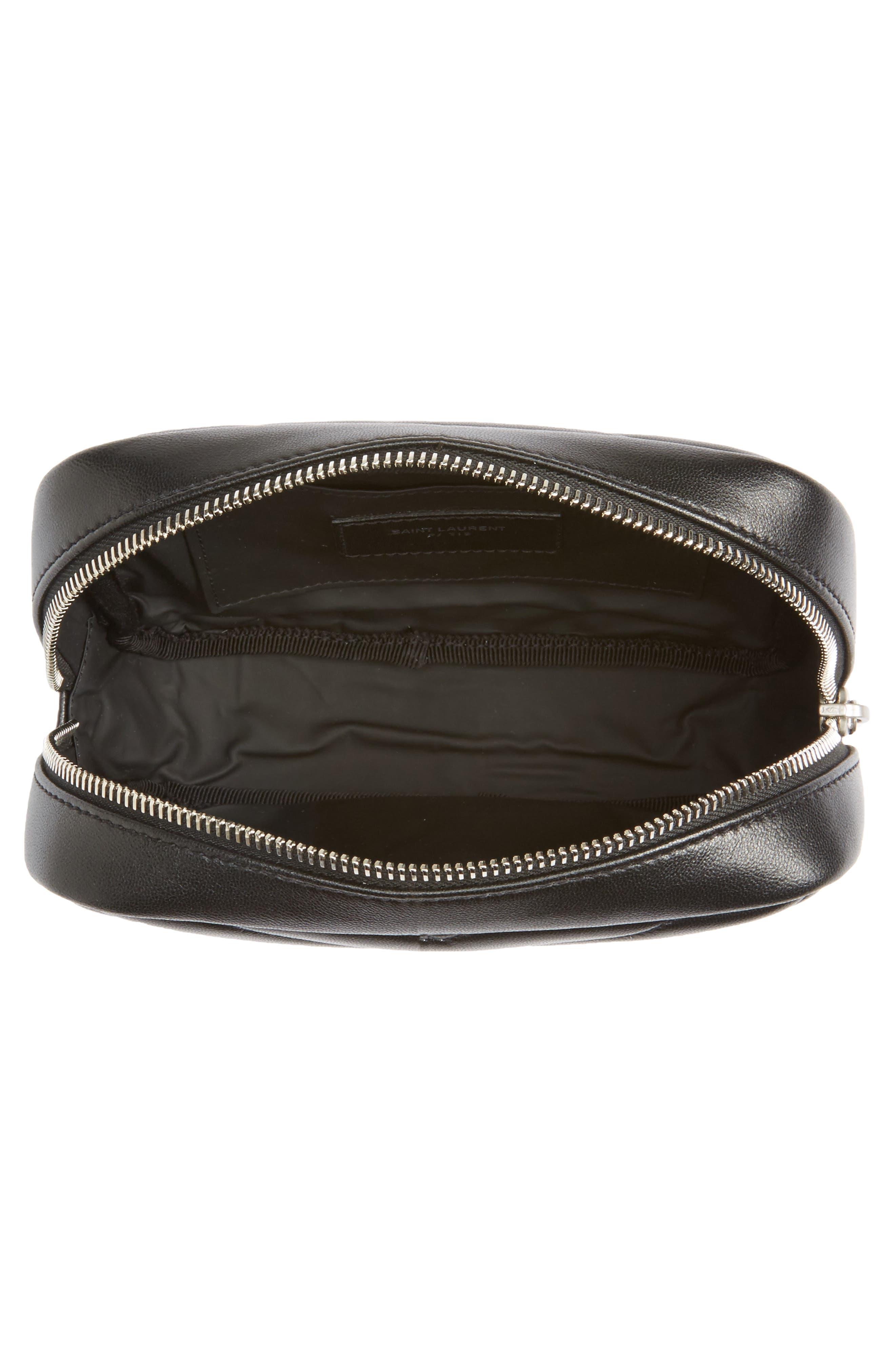 Alternate Image 3  - Saint Laurent Loulou Matelassé Leather Cosmetics Case