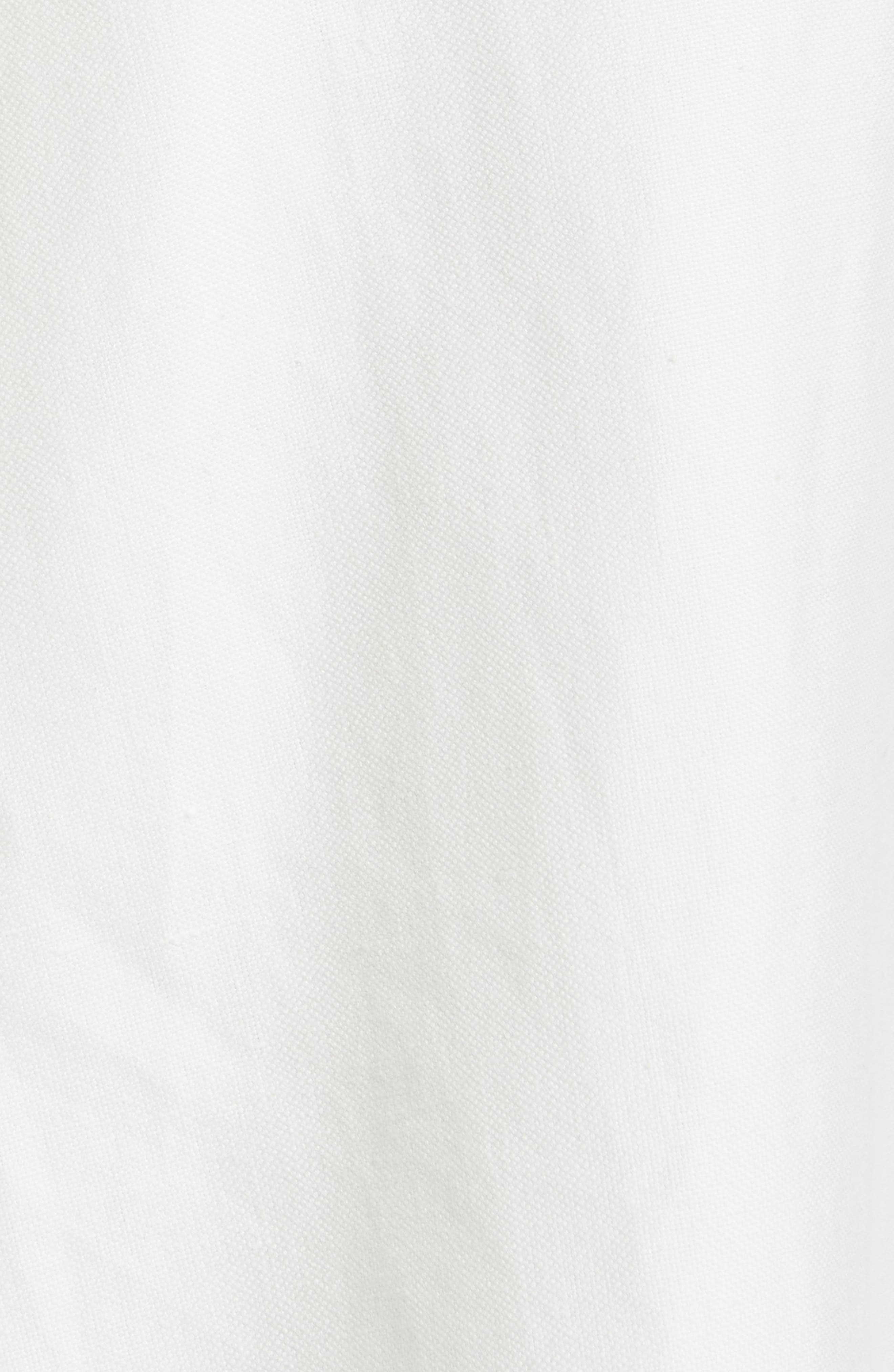 Linen & Cotton Crop Wide Leg Pants,                             Alternate thumbnail 7, color,                             Ivory