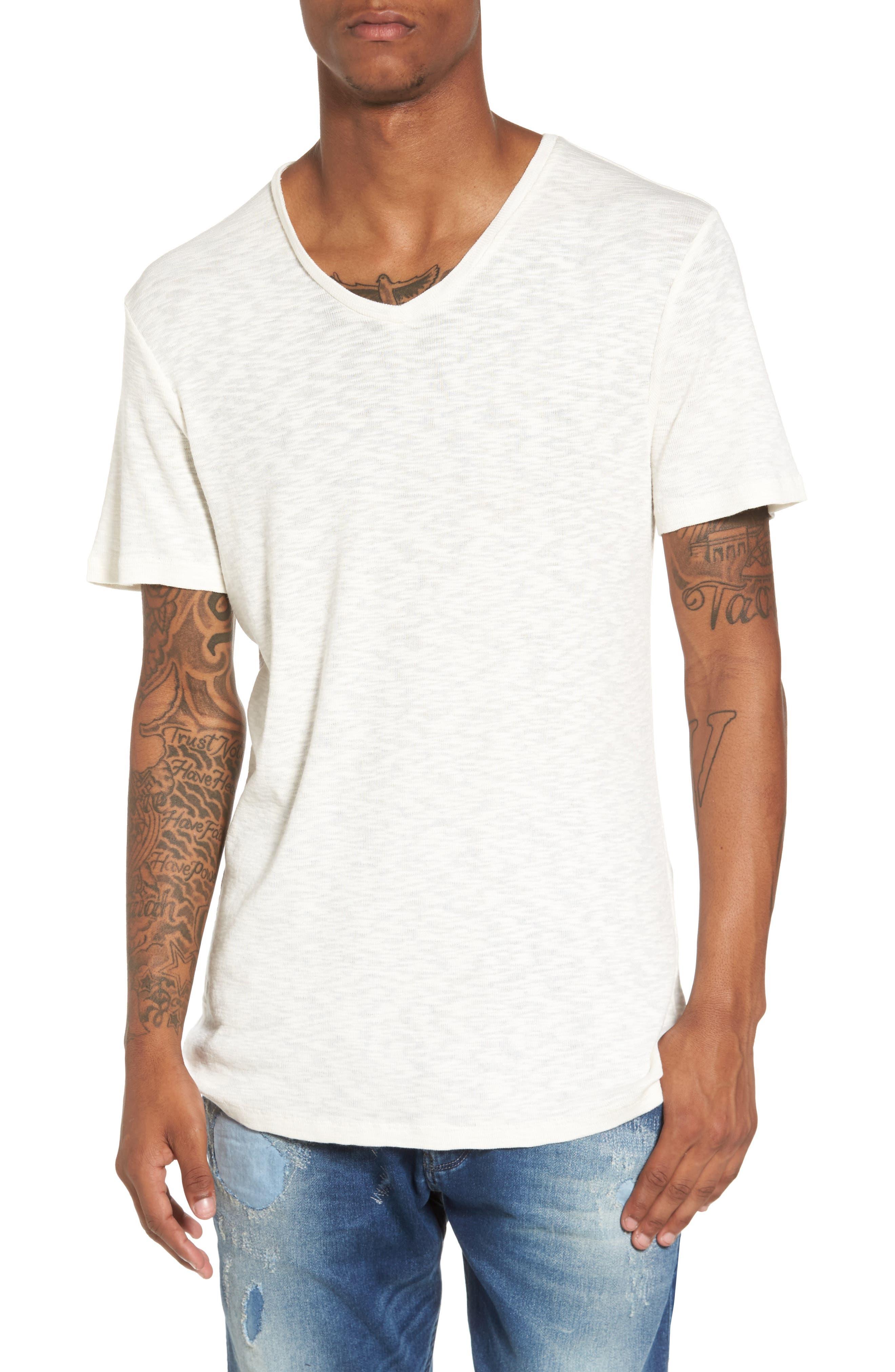 Capitola V-Neck T-Shirt,                         Main,                         color, Ivory Egret