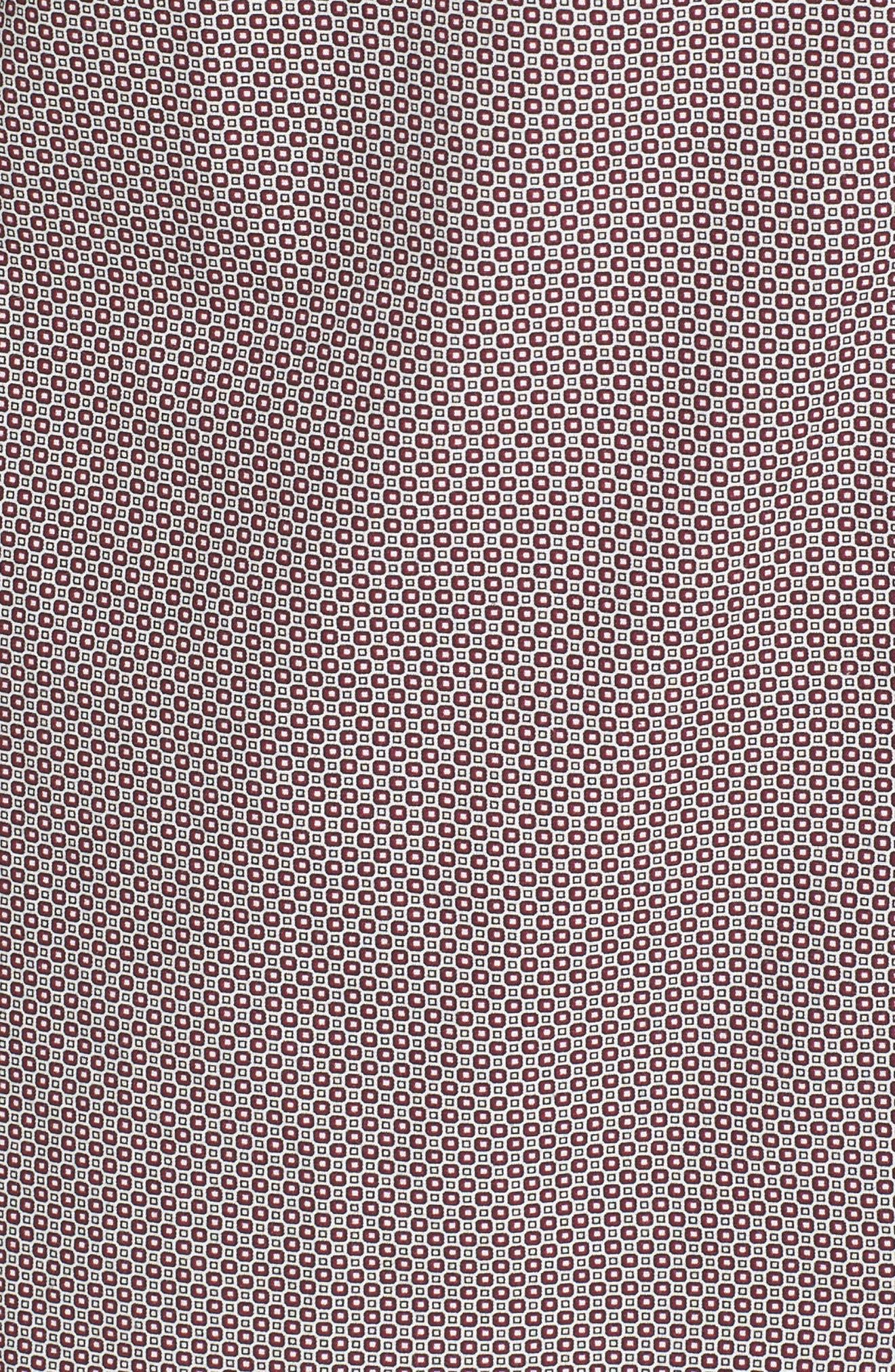 Oakhurst Sports Fit Print Sports Shirt,                             Alternate thumbnail 5, color,                             Rhubarb