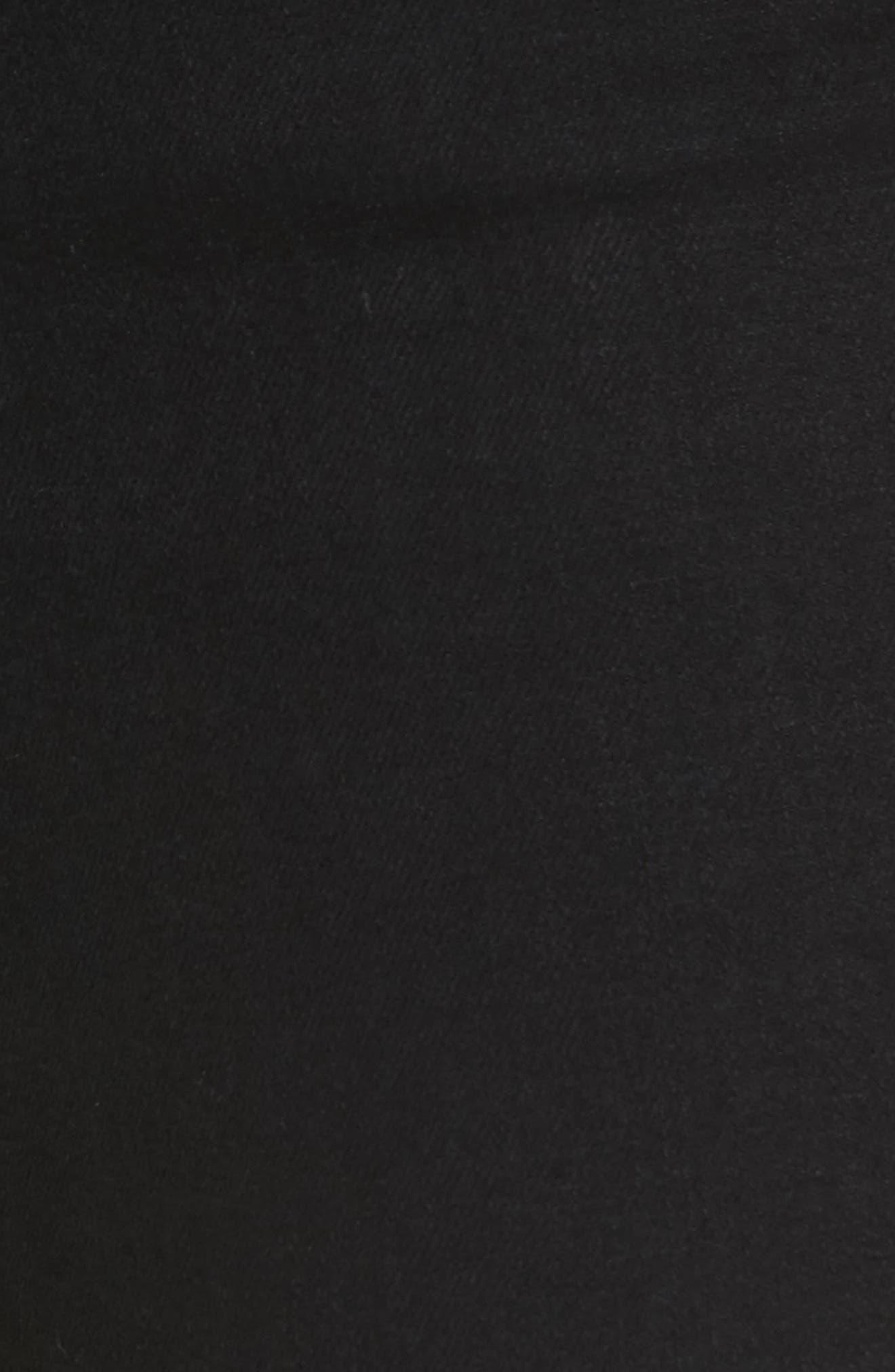 W2 Crop Skinny Jeans,                             Alternate thumbnail 5, color,                             Black Tear