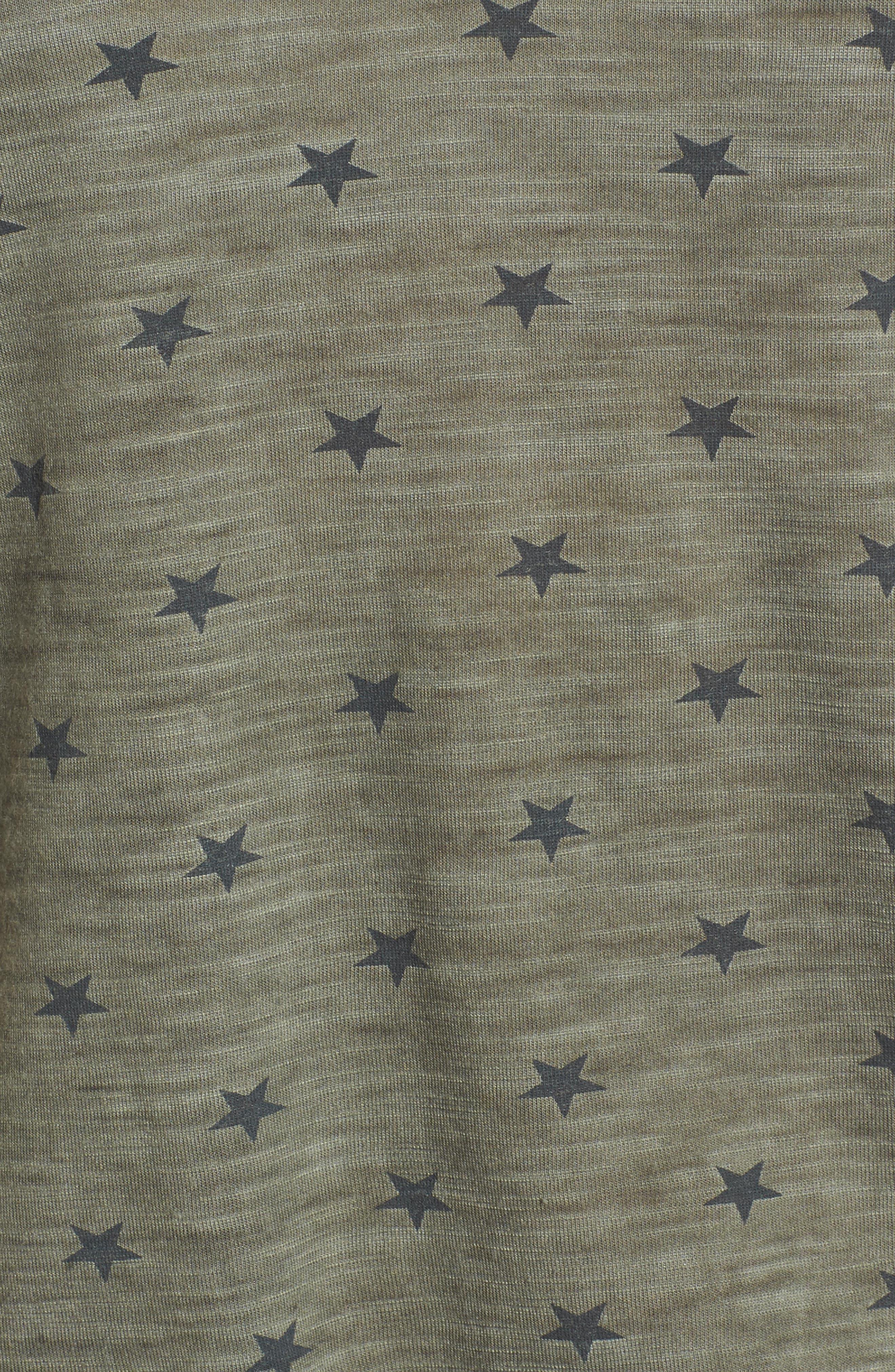 Alternate Image 5  - Billy T Star Print Crisscross V-Neck Tee