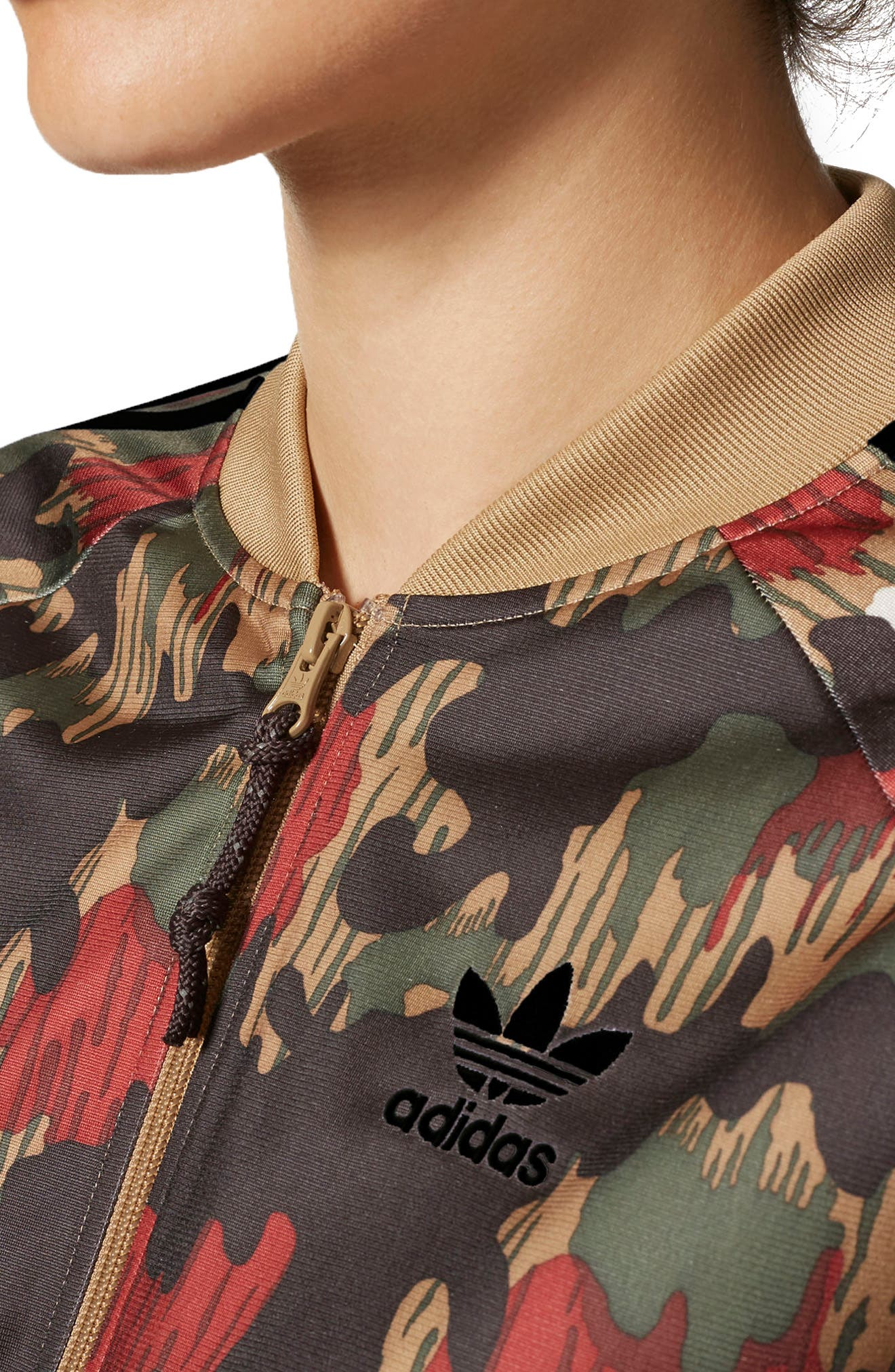 Originals Pharrell Williams Hu Hiking Jacket,                             Alternate thumbnail 4, color,                             Swiss Camo