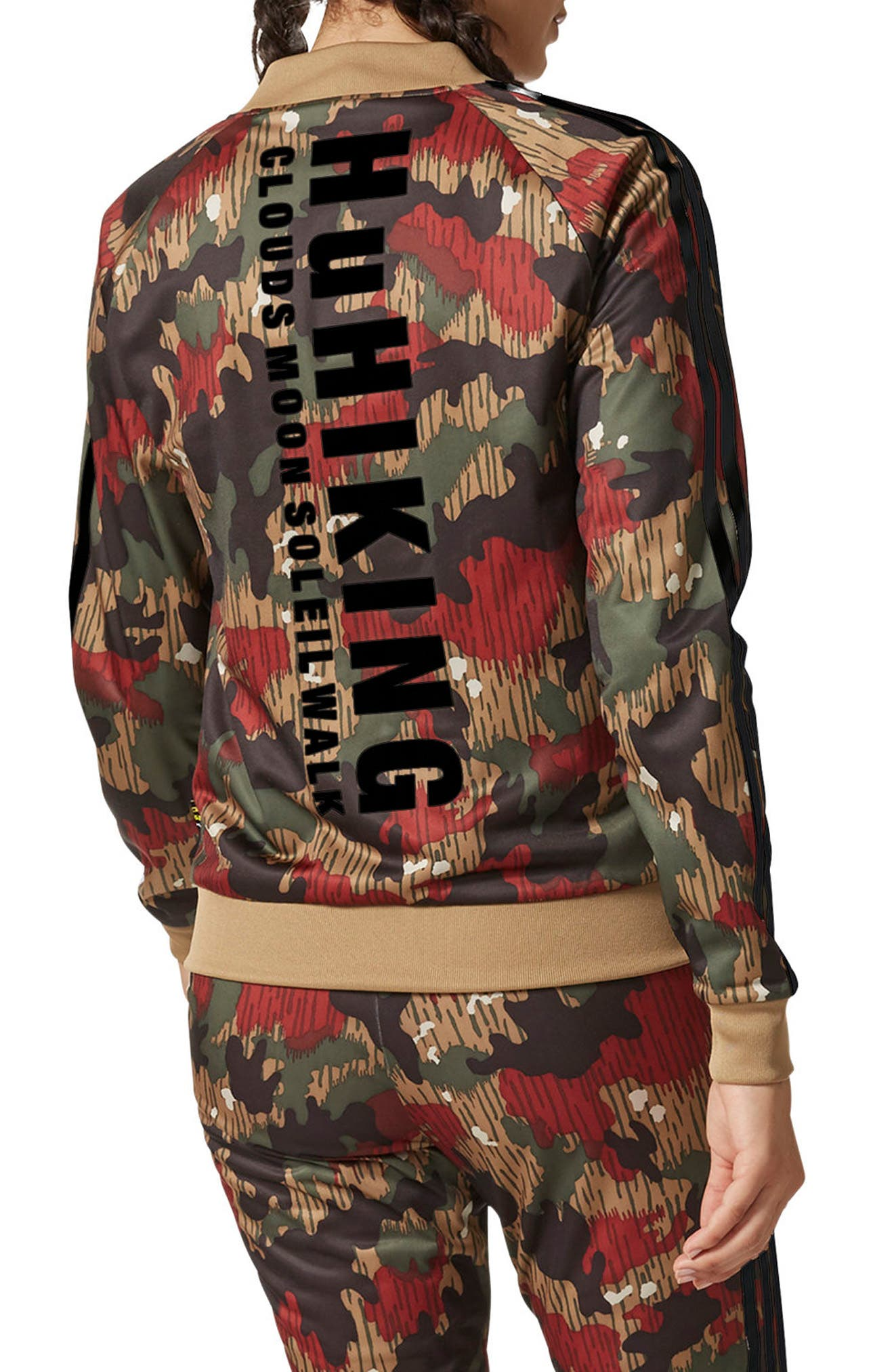 Originals Pharrell Williams Hu Hiking Jacket,                             Alternate thumbnail 2, color,                             Swiss Camo