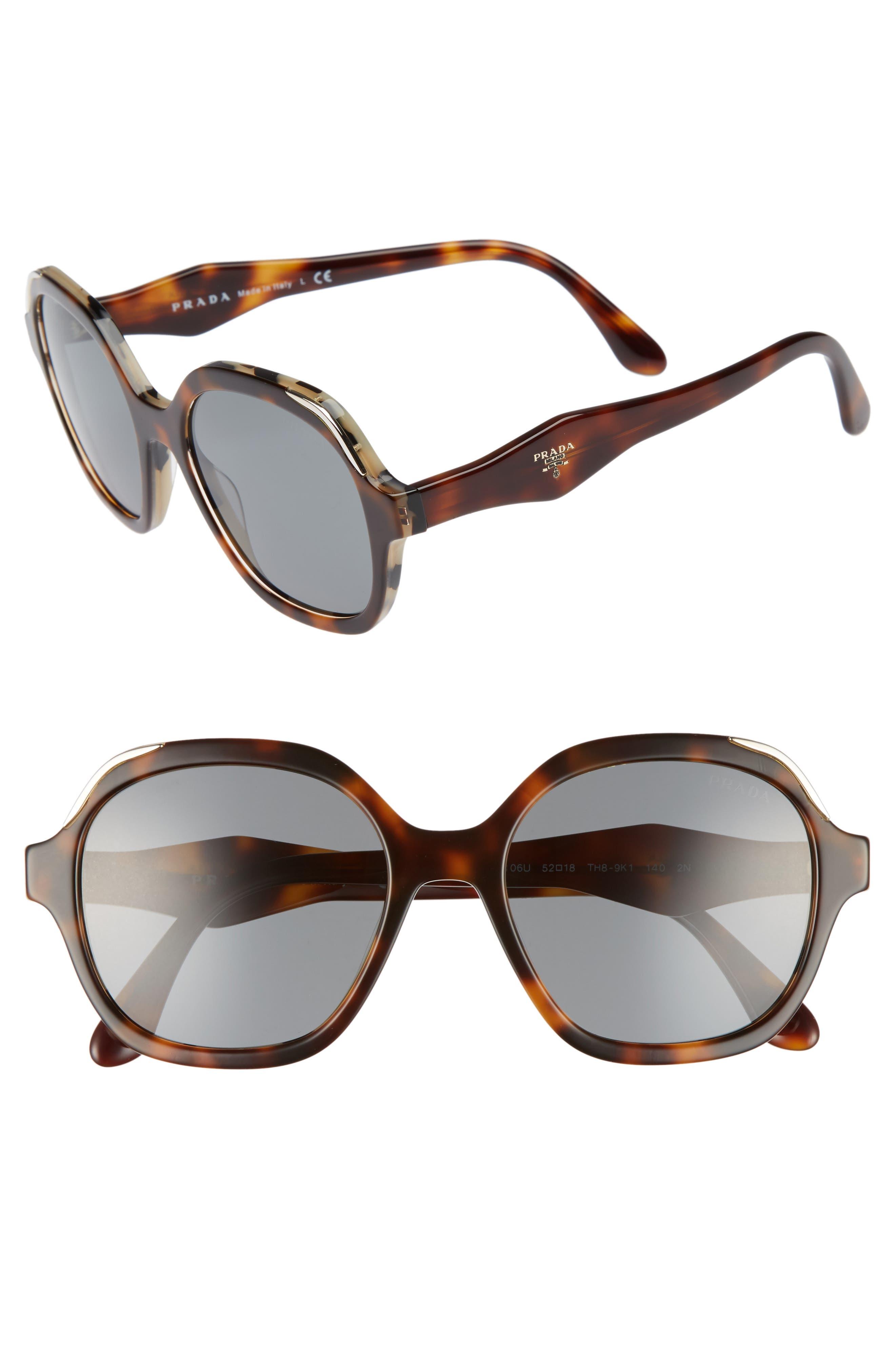 50mm Square Sunglasses,                         Main,                         color, White/ Havana