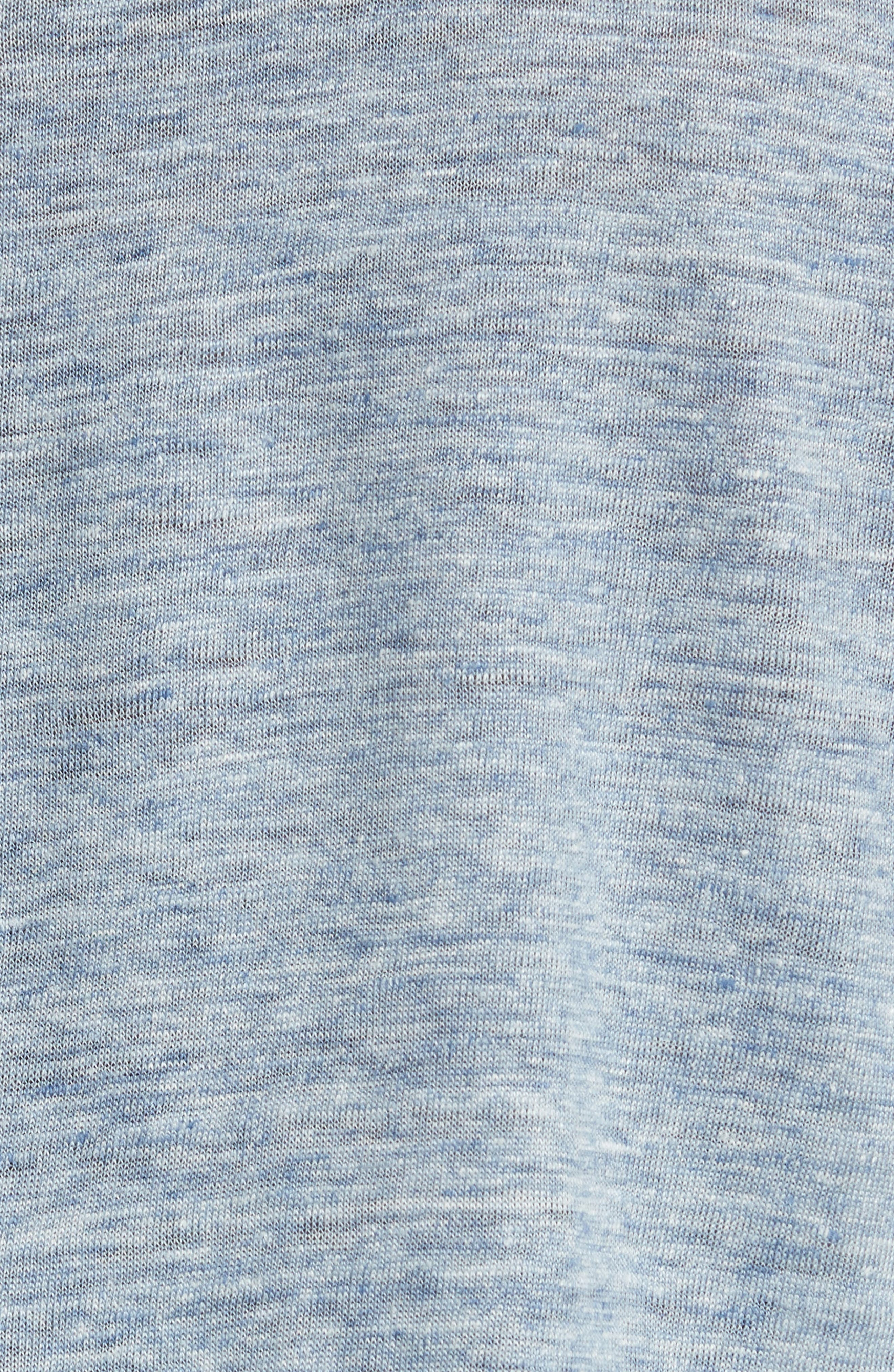 Owen Linen Long Sleeve T-Shirt,                             Alternate thumbnail 5, color,                             Blue