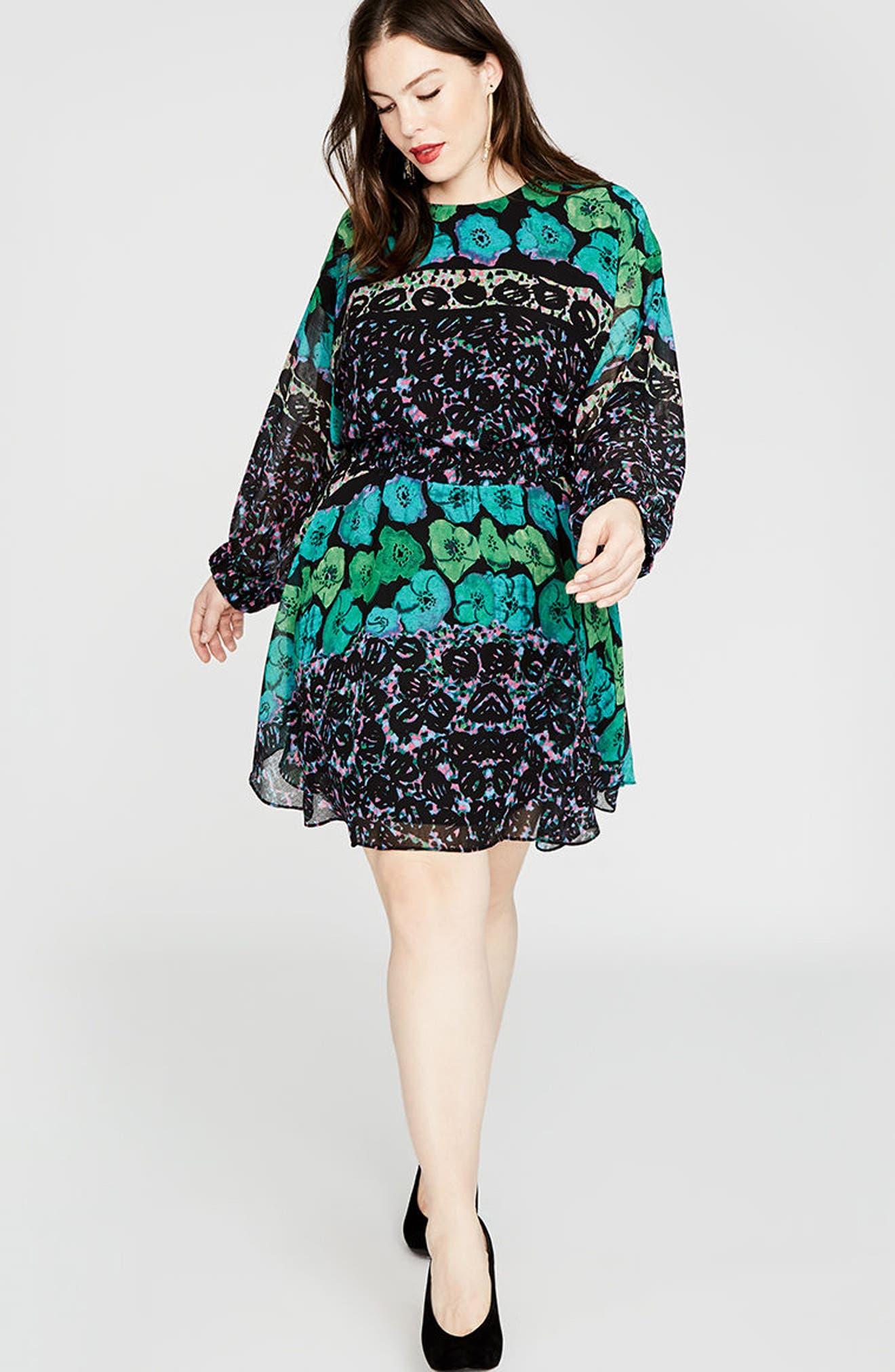 Alternate Image 4  - RACHEL Rachel Roy Easy Floral Dress (Plus Size)