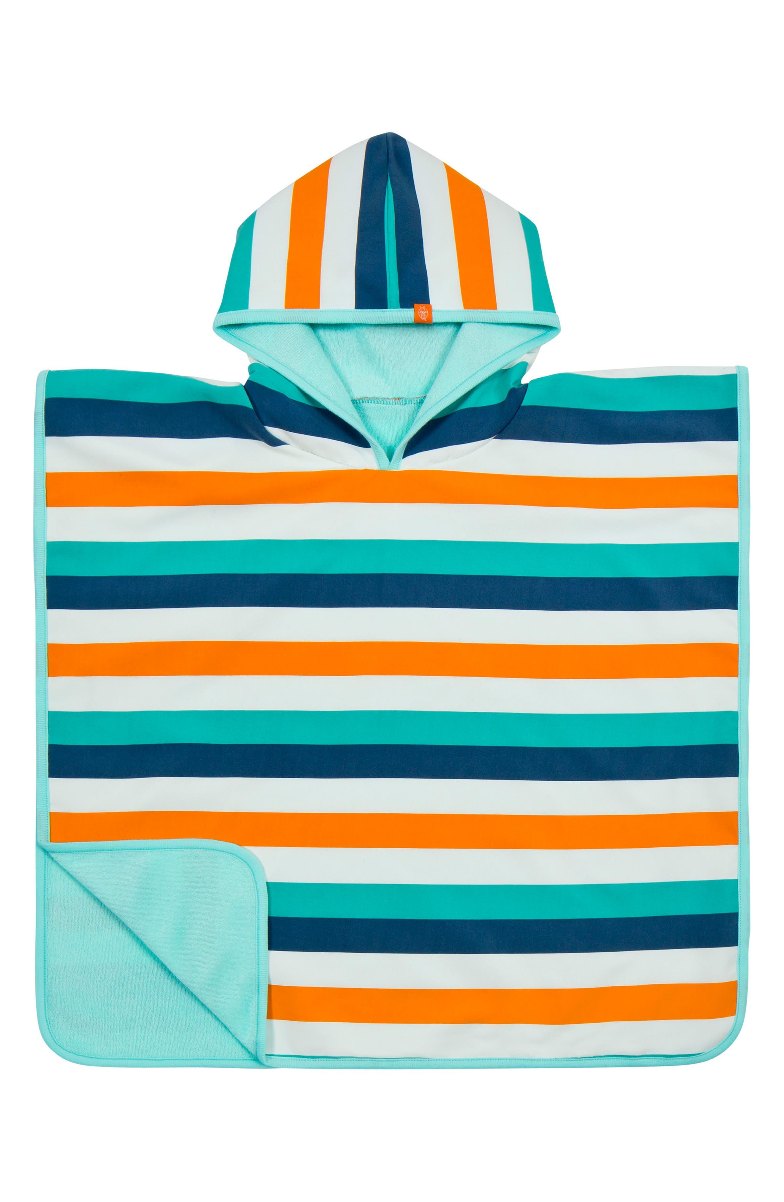 Alternate Image 1 Selected - Lässig Multi Stripe Hooded Beach Poncho (Baby Boys)