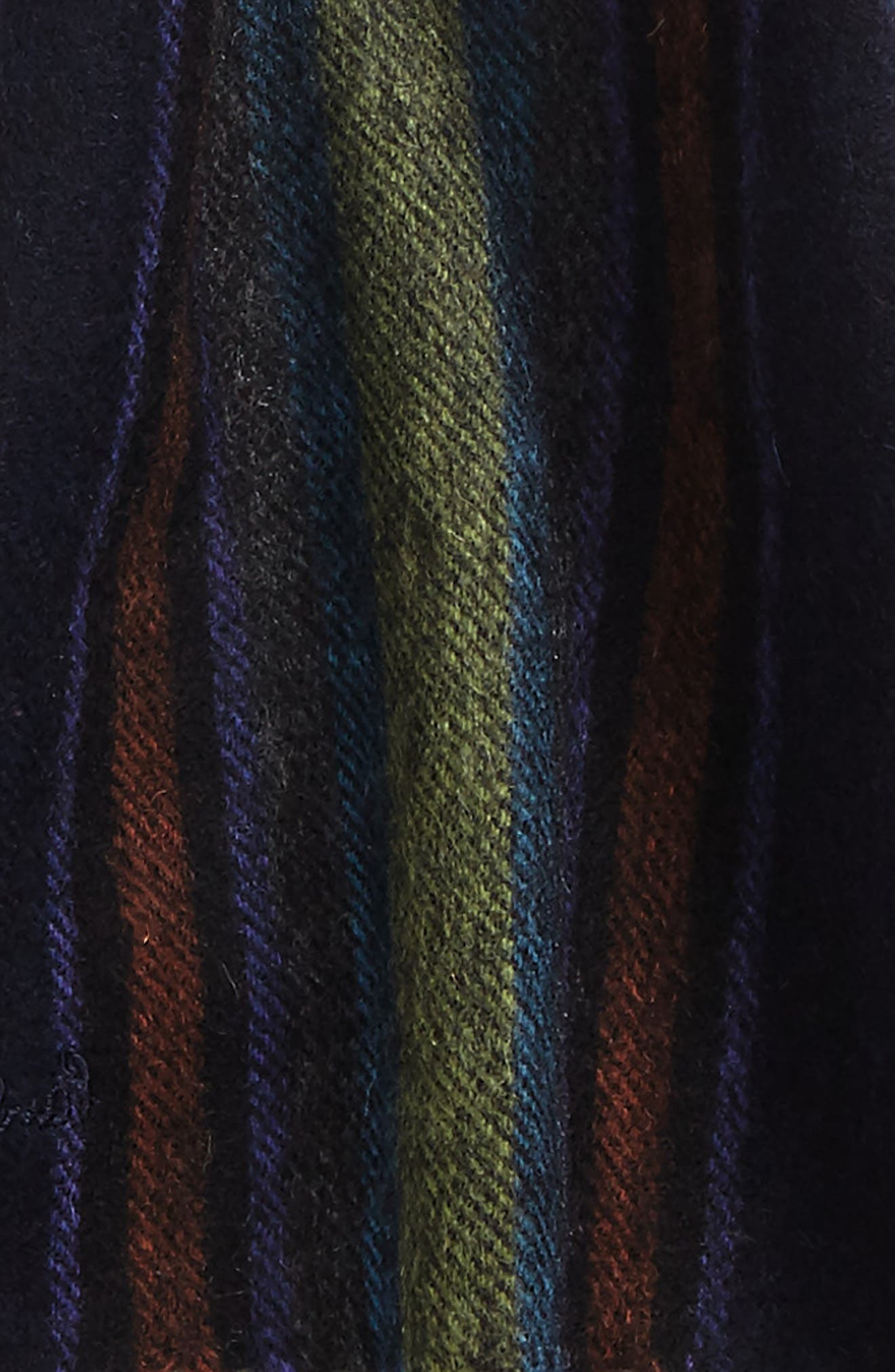College Lambswool Scarf,                             Alternate thumbnail 3, color,                             Navy