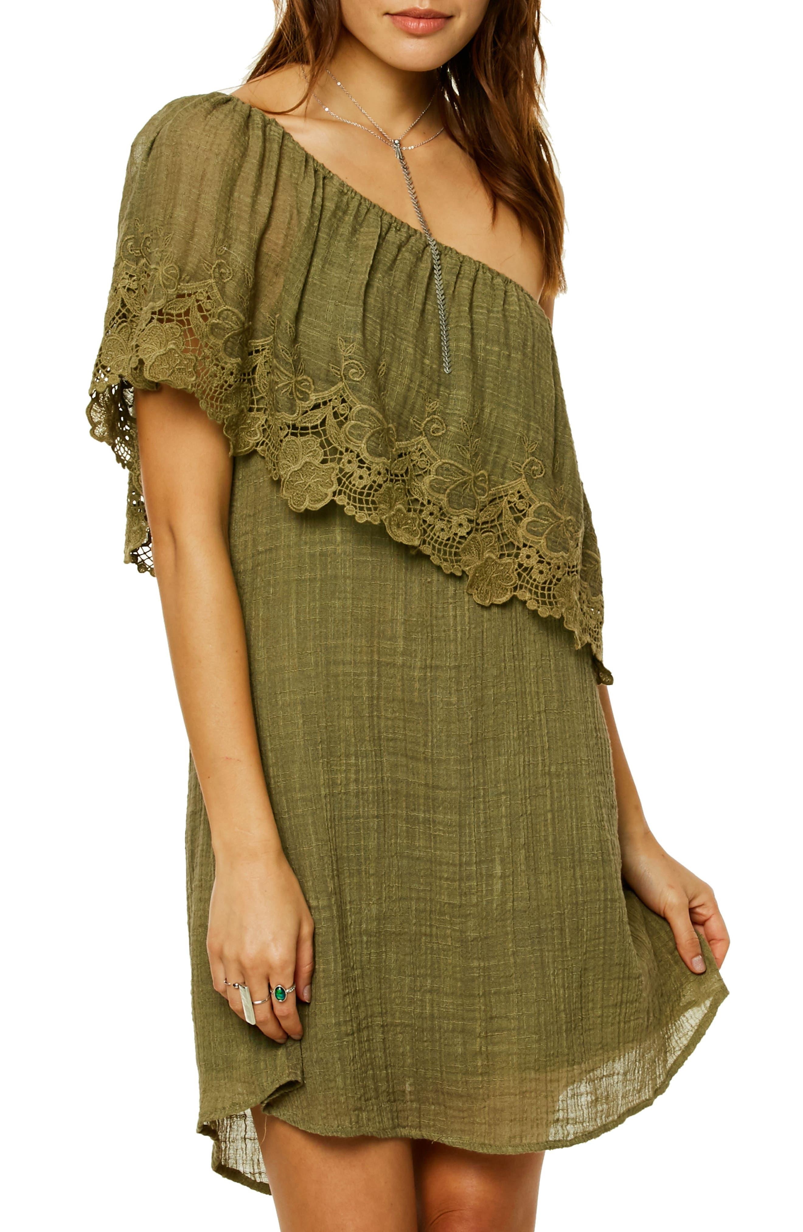 O'Neill Eryn One-Shoulder Dress