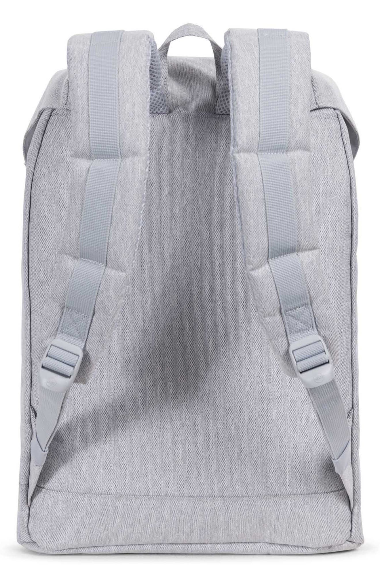 'Retreat' Backpack,                             Alternate thumbnail 2, color,                             Light Grey Crosshatch/ White