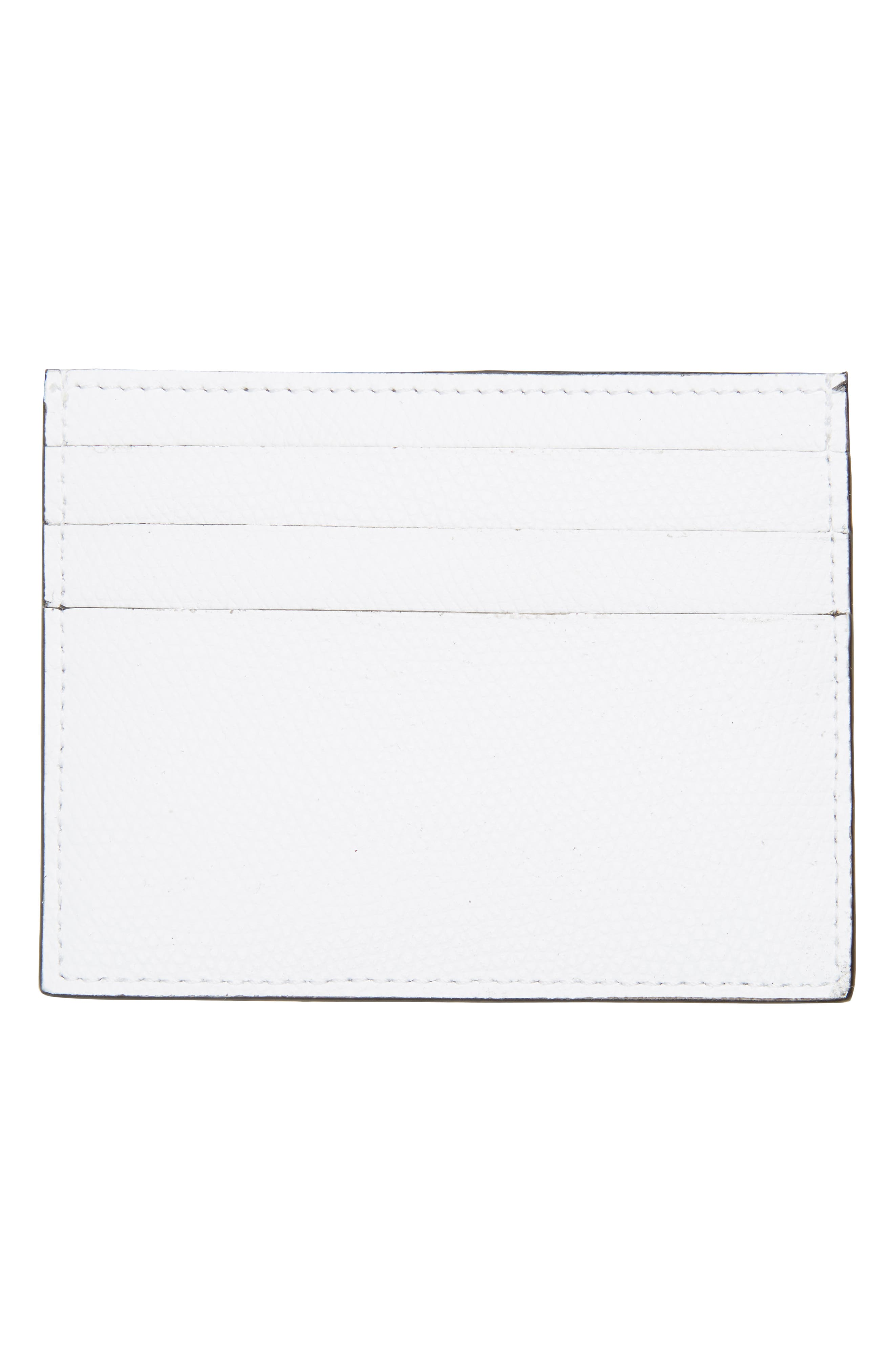 Logo Leather Card Case,                             Alternate thumbnail 2, color,                             White
