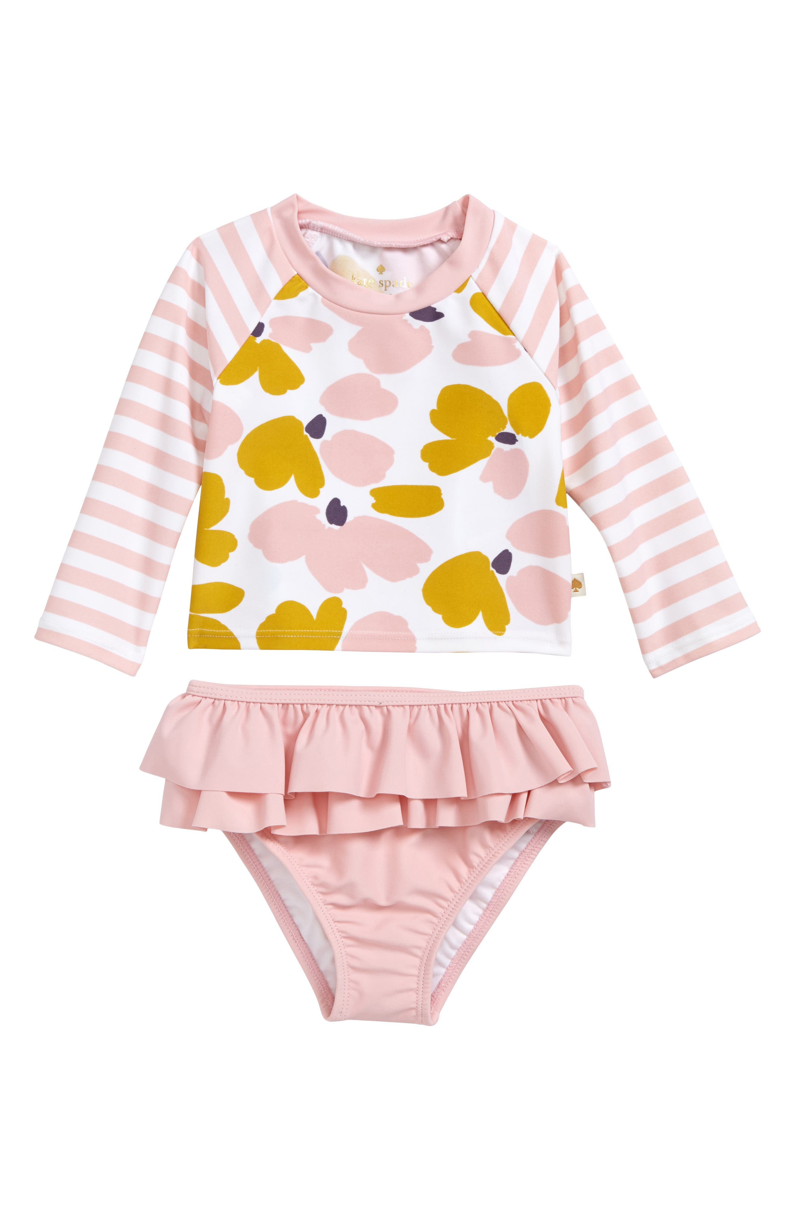 kate spade new york two-piece rashguard swimsuit (Baby Girls)