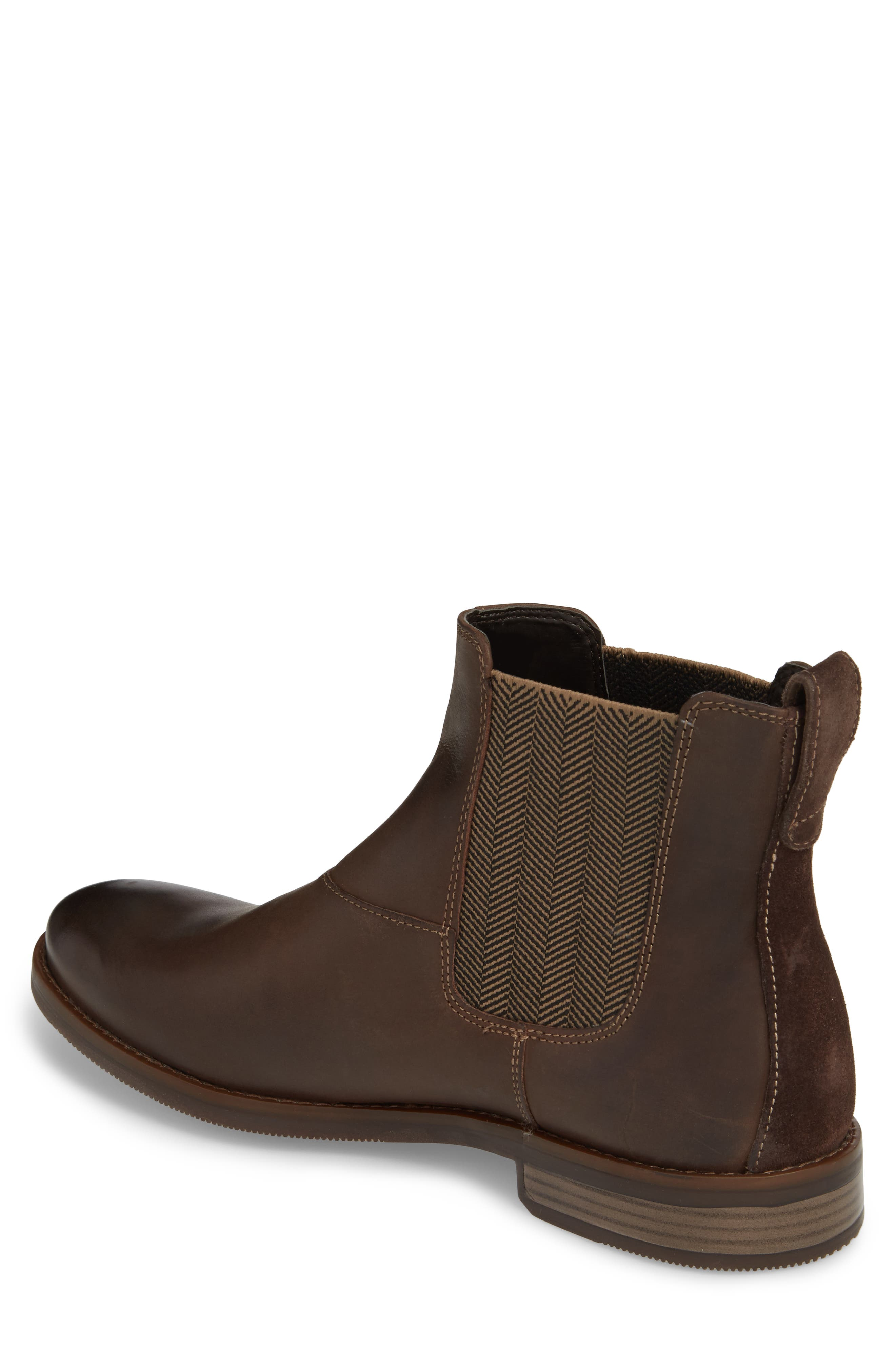 Wynstin Chelsea Boot,                             Alternate thumbnail 2, color,                             Dark Bitter Chocolate Leather