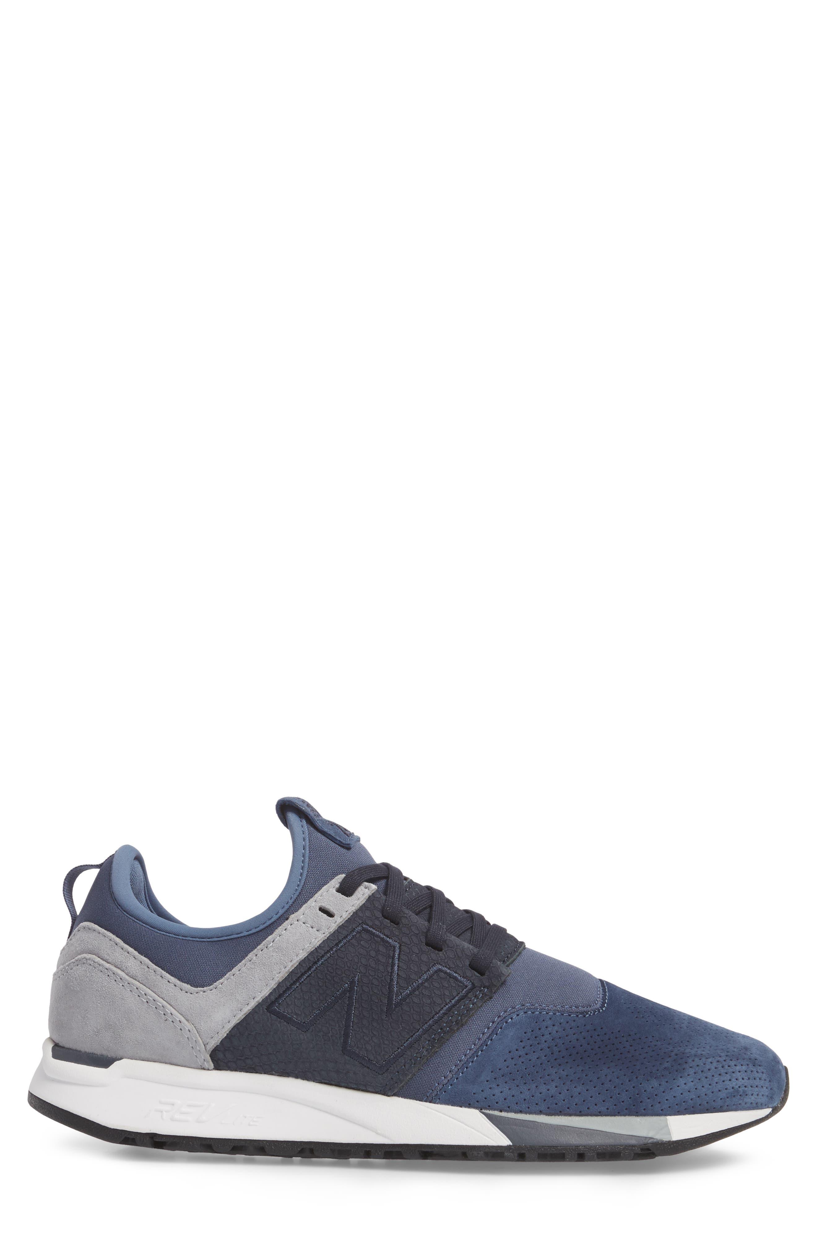 247 Luxe Sneaker,                             Alternate thumbnail 3, color,                             Blue