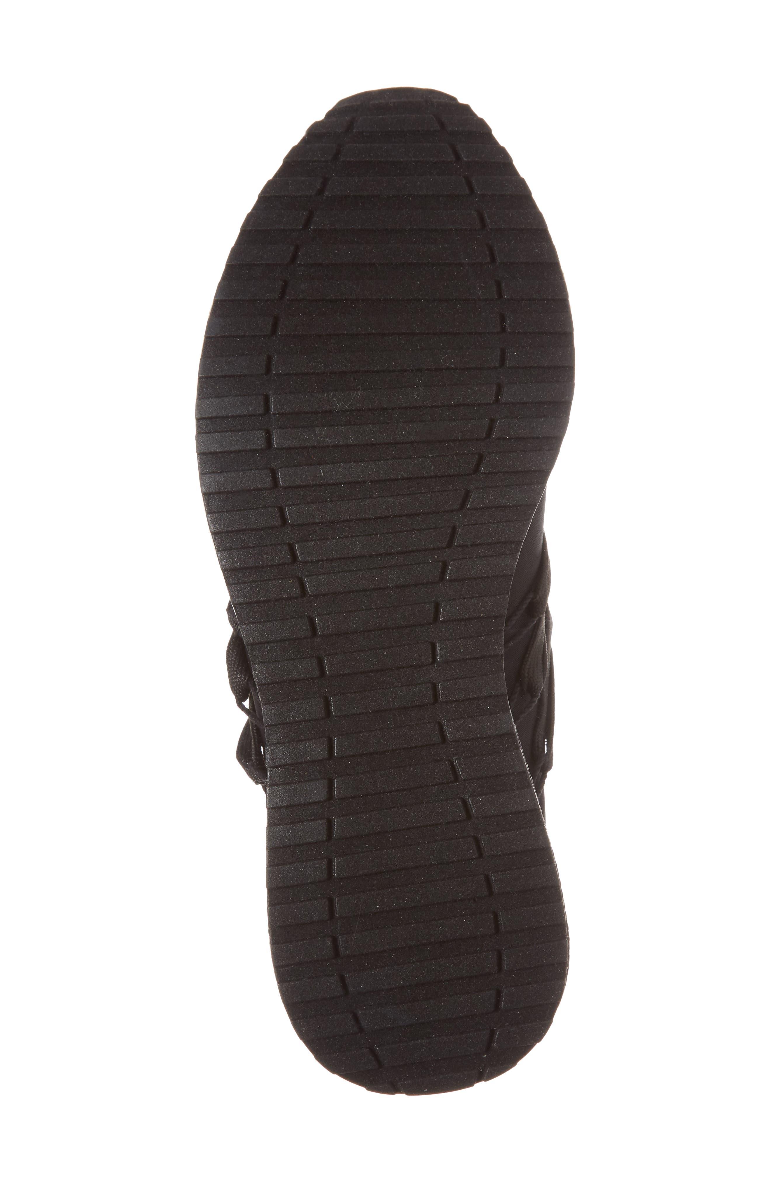 Zorro Sneaker,                             Alternate thumbnail 6, color,                             Black Fabric