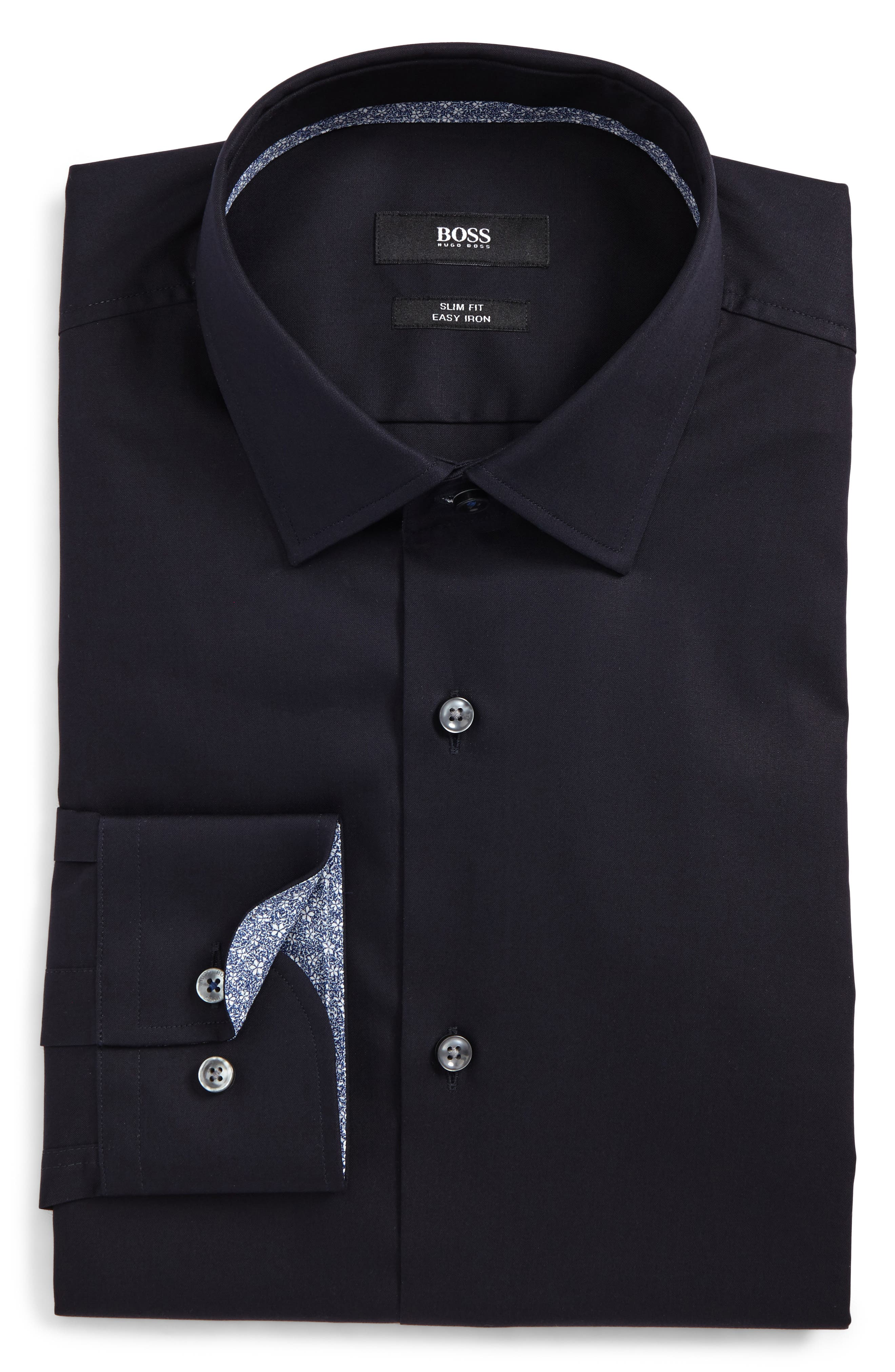 Alternate Image 1 Selected - BOSS Jesse Slim Fit Easy Iron Dress Shirt