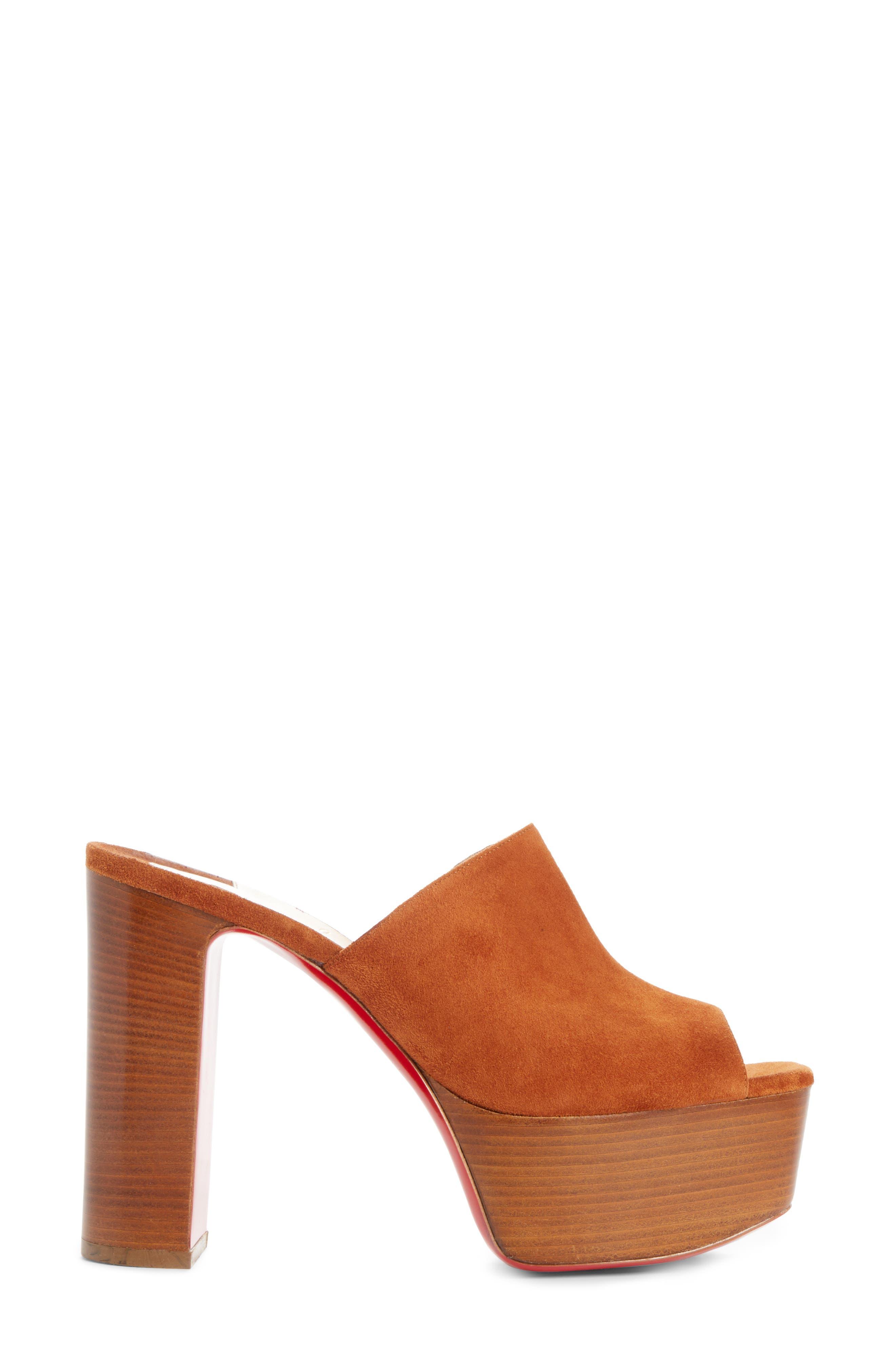 Alternate Image 4  - Christian Louboutin Suede Platform Mule Sandal (Women)